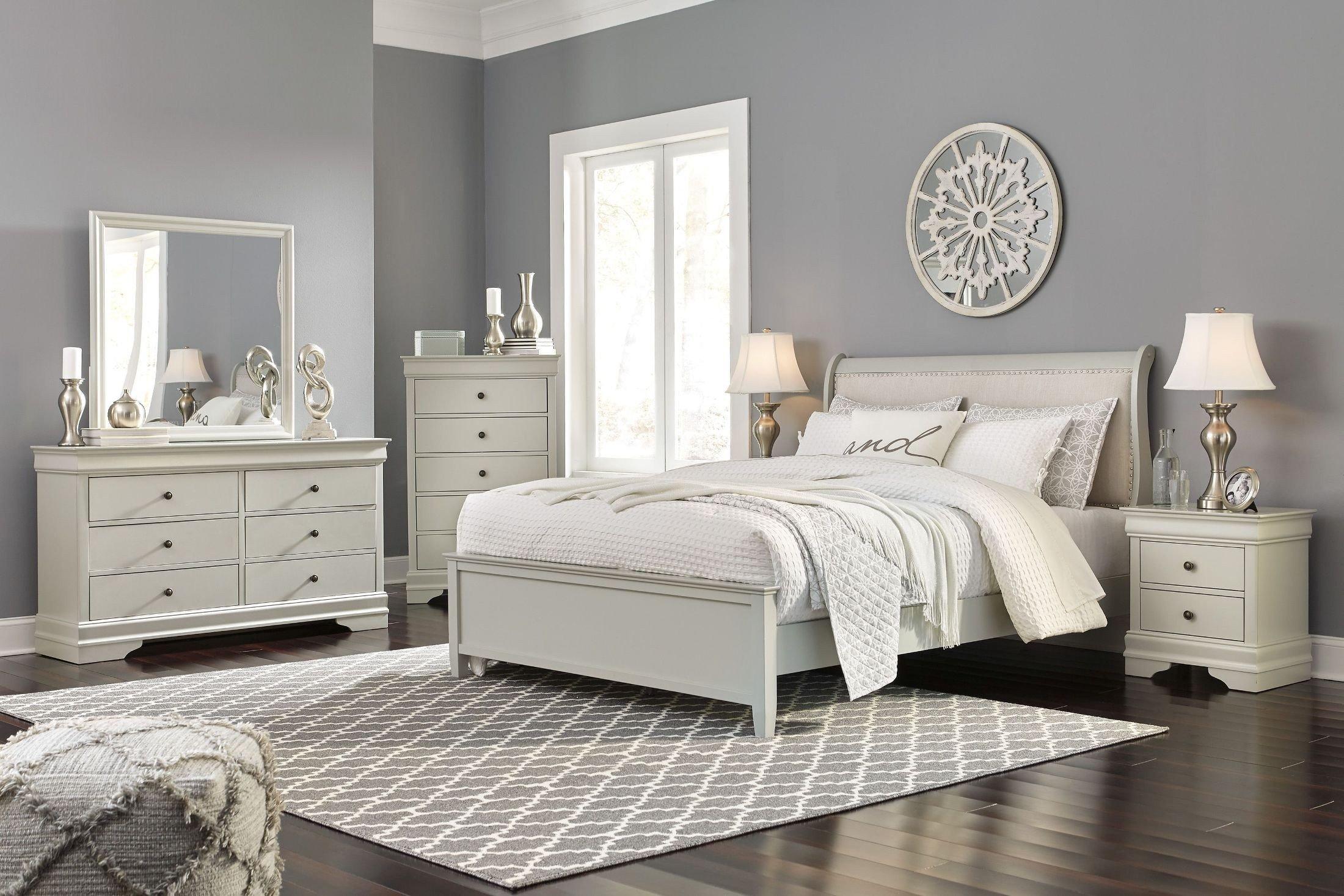Ashley Furniture Full Size Bedroom Set Luxury Jorstad Gray King Upholstered Sleigh Bed