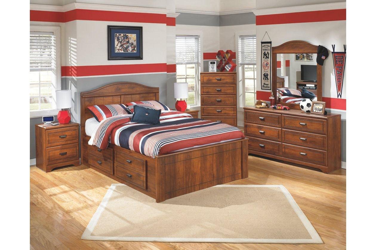 Ashley Furniture Kids Bedroom Elegant Barchan Full Panel Bed with 2 Storage