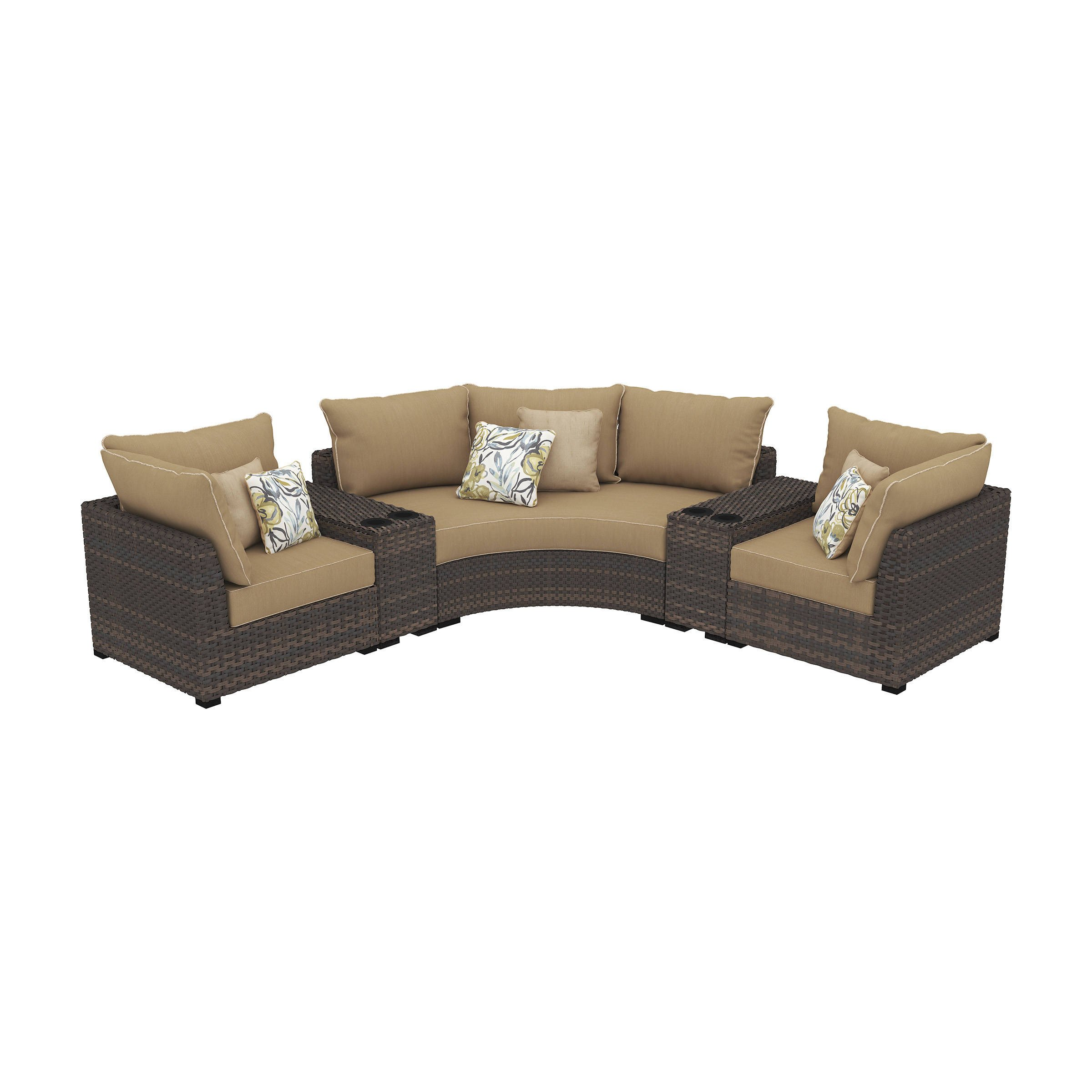 Ashley Furniture Kids Bedroom Fresh ashley Furniture Spring Ridge Beige 5pc Outdoor Sectional