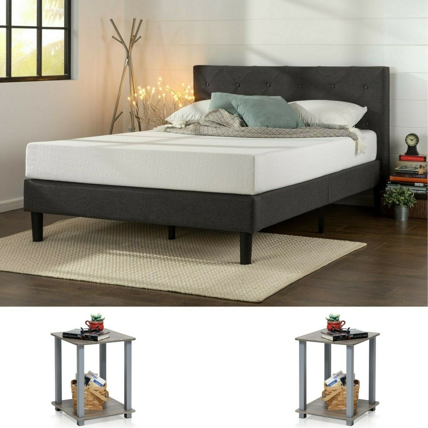 Ashley Furniture Queen Size Bedroom Set Beautiful Bedroom Set Queen Size Modern Design Furniture 2 Nightstand Tables Grey 3 Pieces