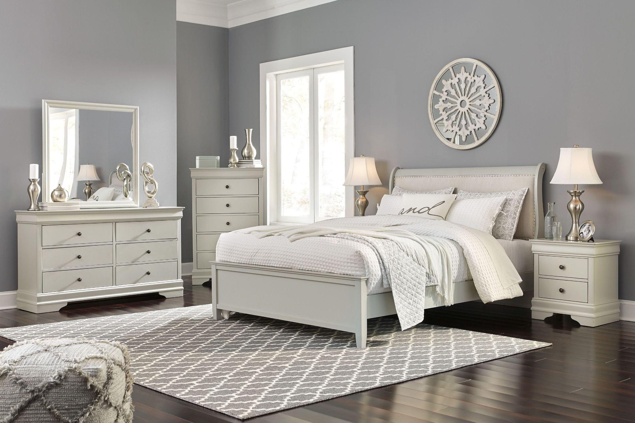 Ashley Furniture Silver Bedroom Set Elegant Emma Mason Signature Jarred 5 Piece Sleigh Bedroom Set In Gray