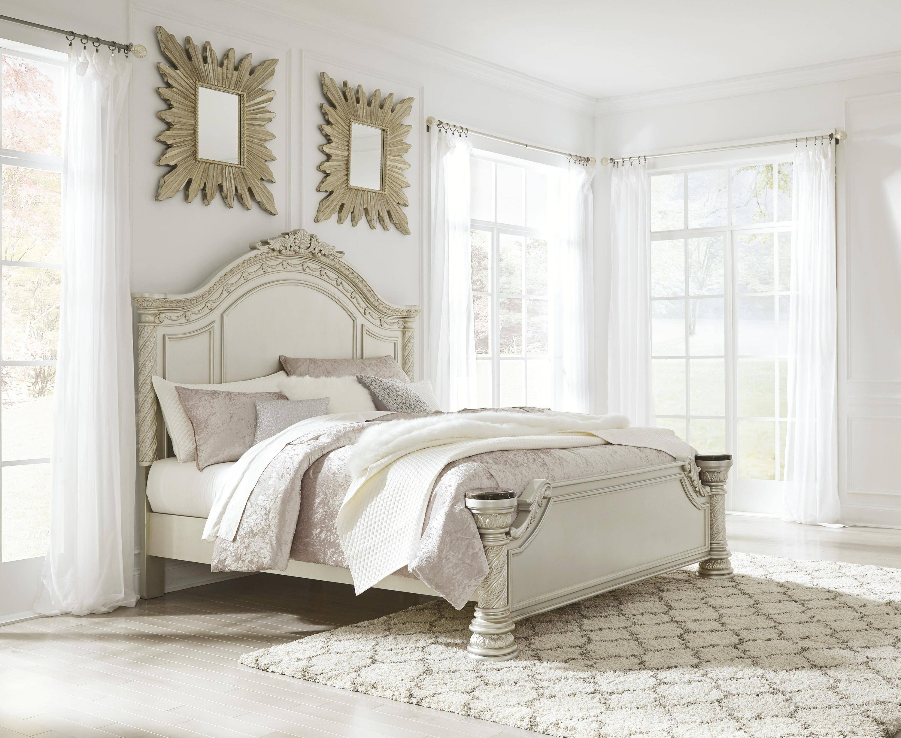Ashley Furniture Silver Bedroom Set Inspirational ashley Cassimore B750 King Size Panel Bedroom Set 5pcs In