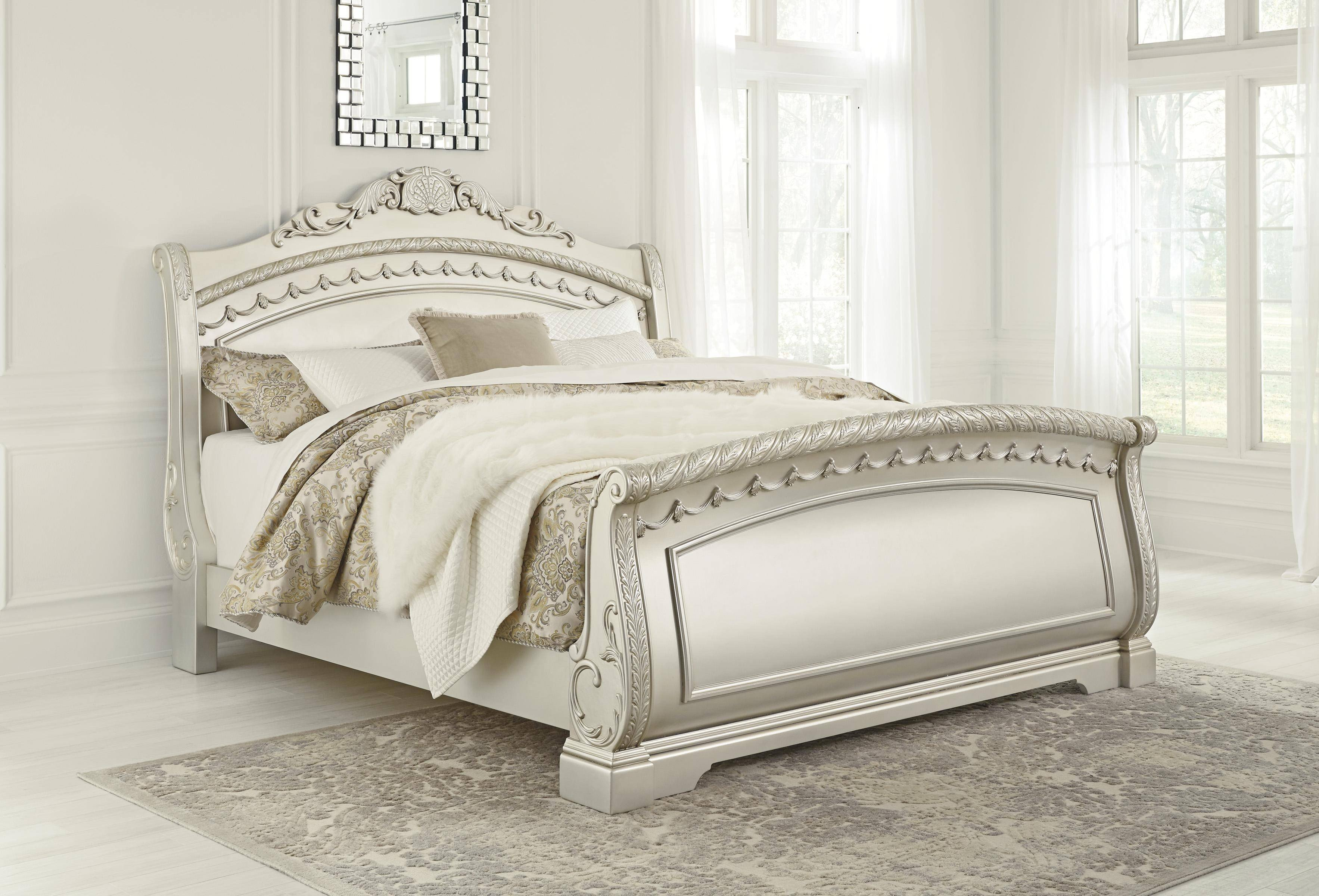 Ashley Furniture Silver Bedroom Set Inspirational ashley Cassimore B750 Queen Size Sleigh Bedroom Set 5pcs In