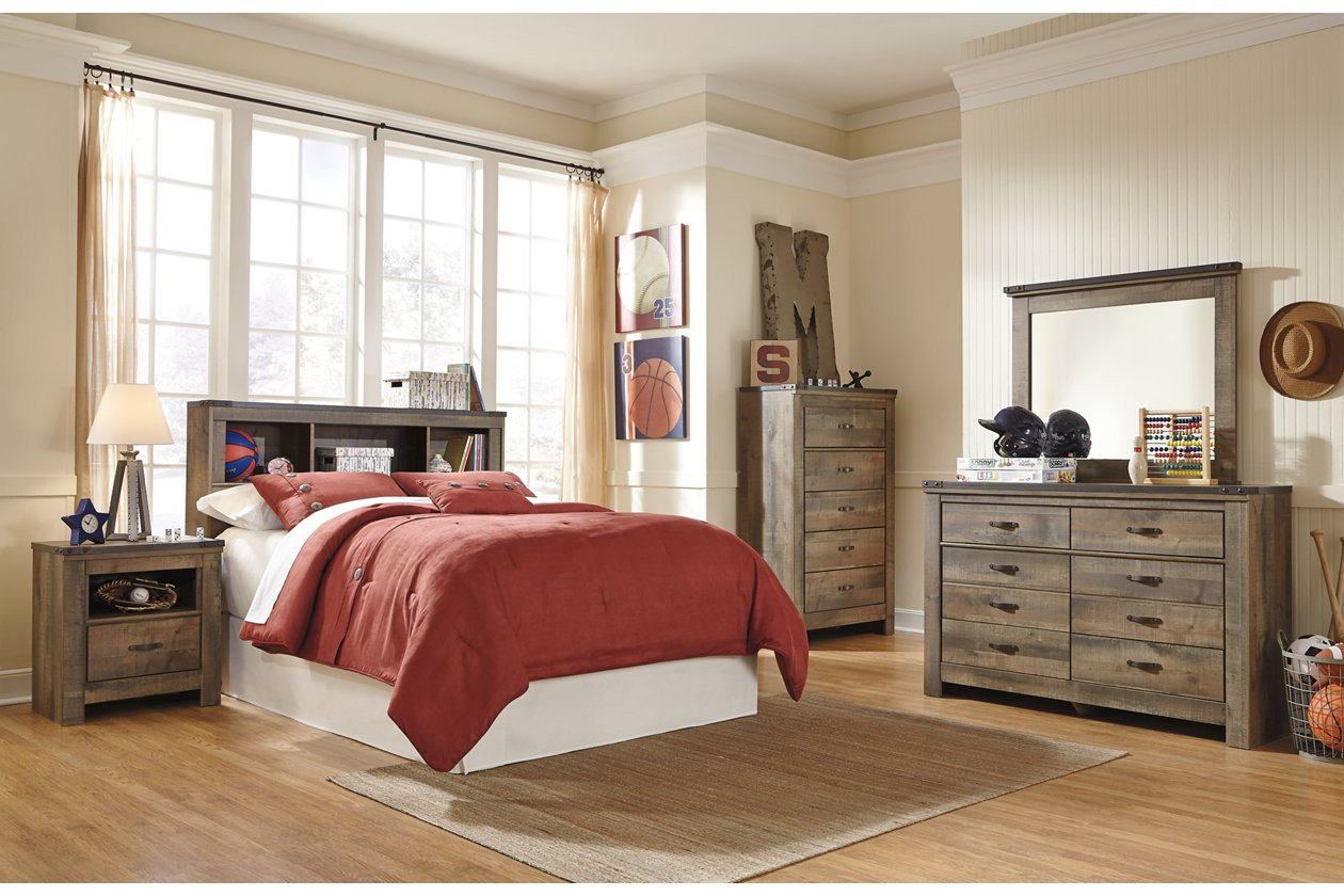 Ashley Furniture Silver Bedroom Set Lovely Trinell Full Bookcase Headboard