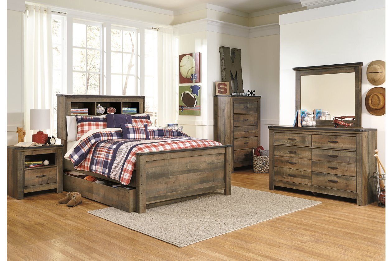Ashley Furniture Silver Bedroom Set New Trinell Full Bookcase Headboard