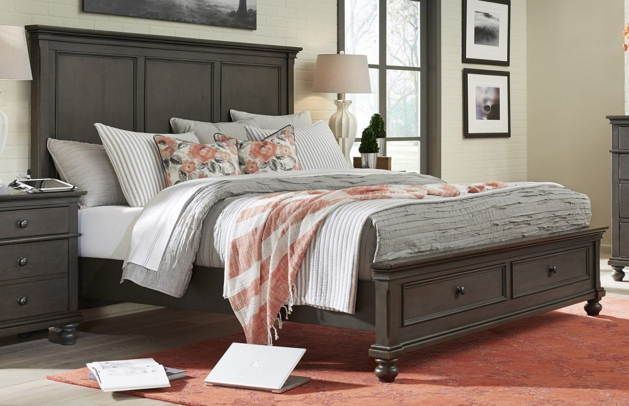 Ashley King Size Bedroom Set Inspirational aspenhome Oxford King Panel Storage Bed In Peppercorn Special