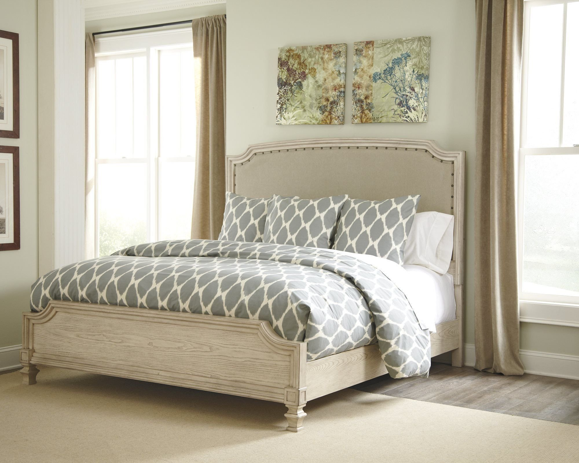 Ashley White Bedroom Furniture Beautiful ashley Demarlos Queen Upholstered Bed In Parchment White
