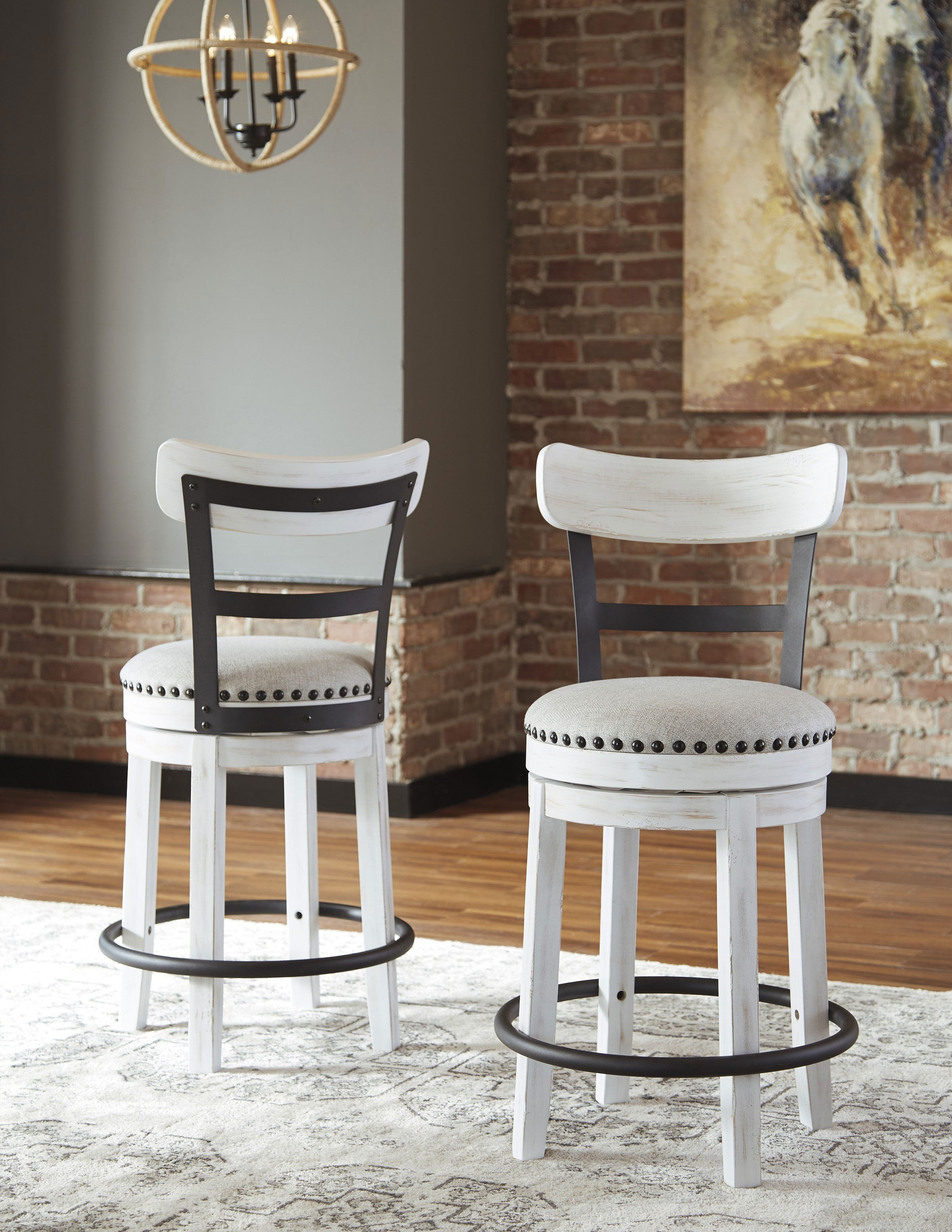 Ashley White Bedroom Furniture Beautiful ashley Furniture Valebeck Upholstered Swivel Barstool In White