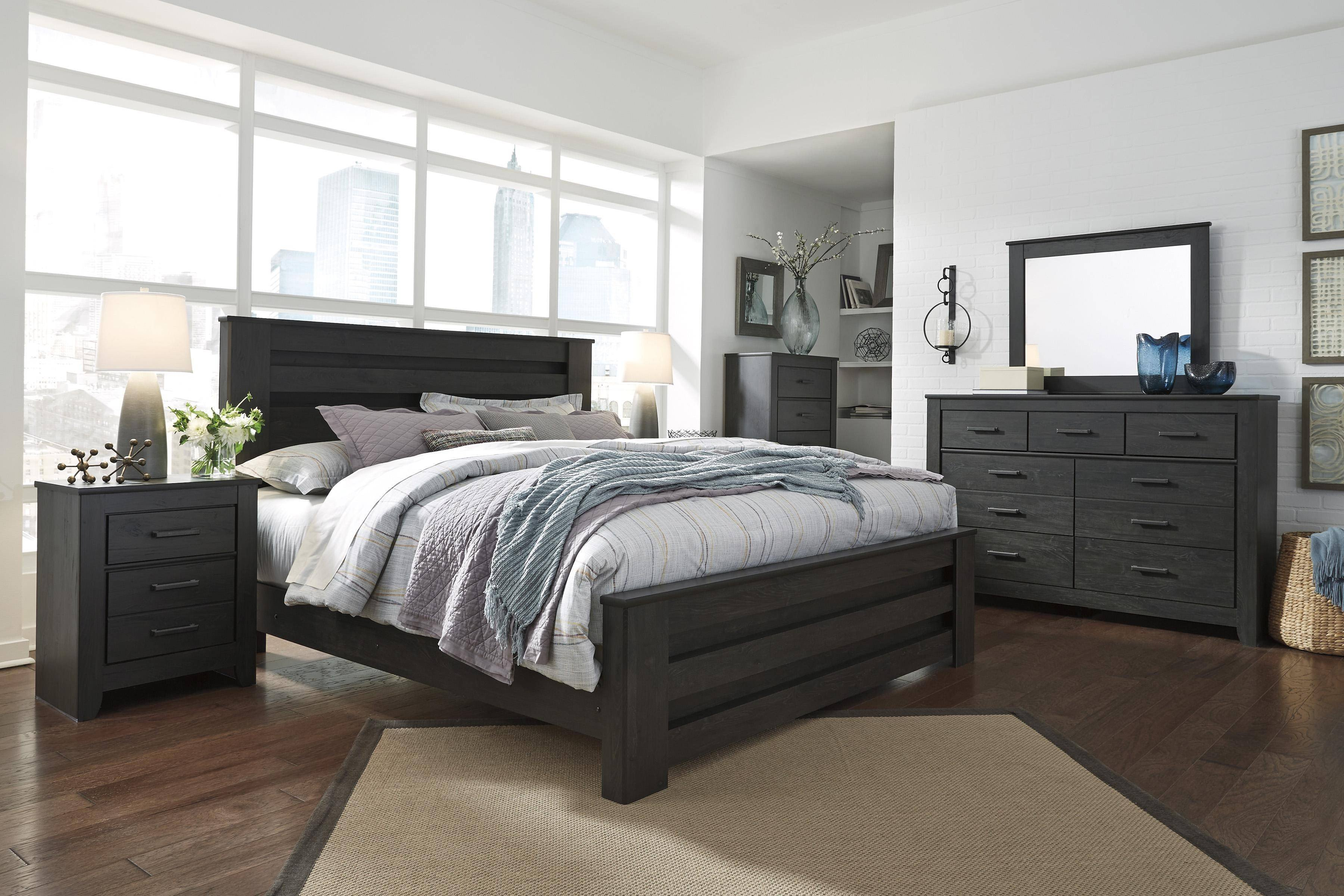 Ashley White Bedroom Furniture Fresh ashley Brinxton B249 King Size Platform Bedroom Set 5pcs In