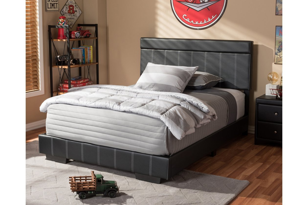 Ashley White Bedroom Furniture Inspirational solo Faux Leather Full Size Platform Bed