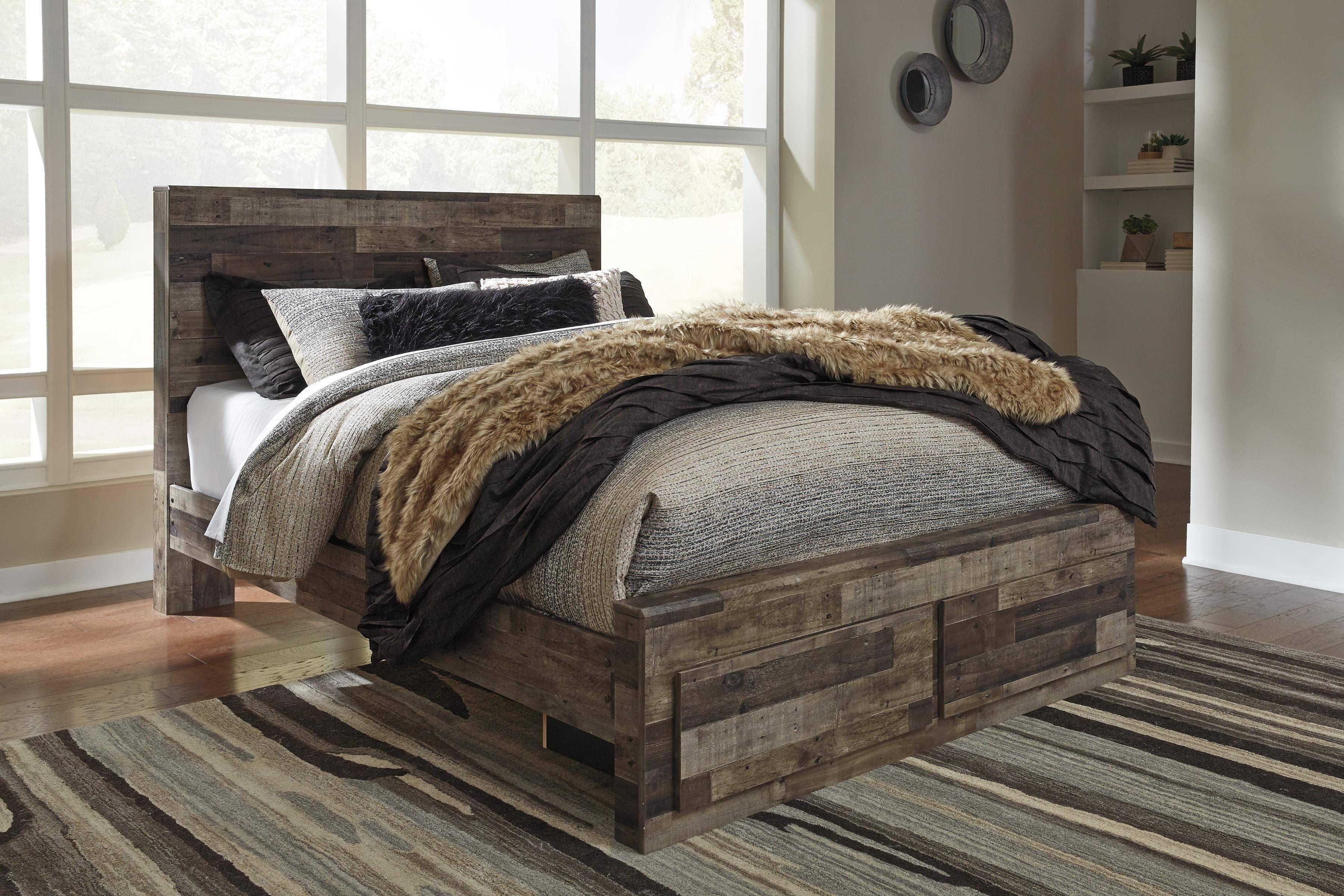 Ashley White Bedroom Set Awesome ashley Derekson King Storage Bedroom Set 6 Pcs In Multi Gray Wood