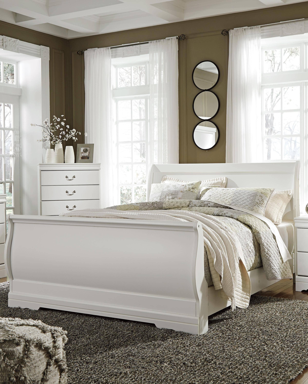 Ashley White Bedroom Set Lovely ashley Anarasia B129 Queen Size Sleigh Bedroom Set 5pcs In