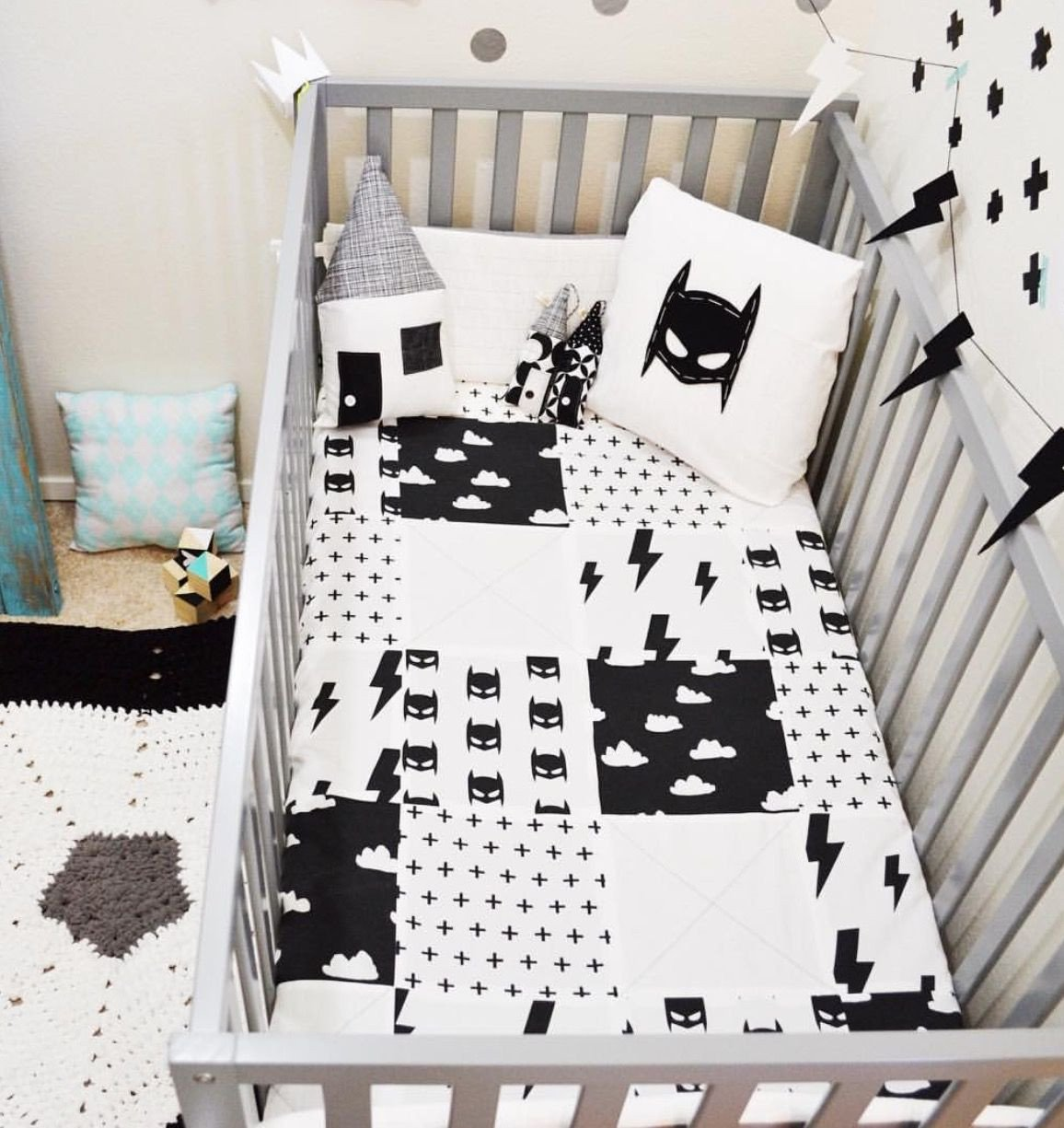 Baby Boy Bedroom Ideas Inspirational Batman Bed Set Little Boys Room