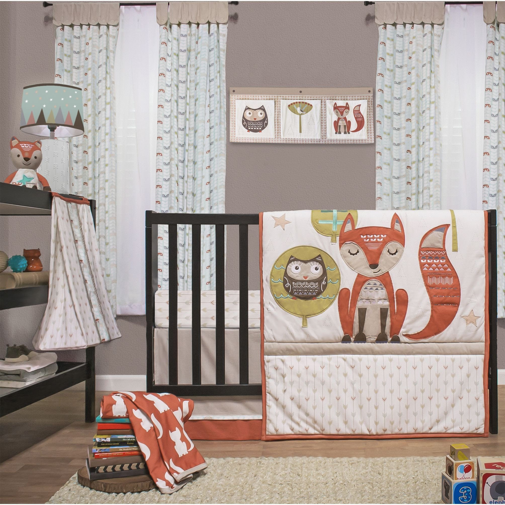 Baby Boy Bedroom Set Inspirational Little Haven Clever Fox 4 Piece Crib Bedding Set