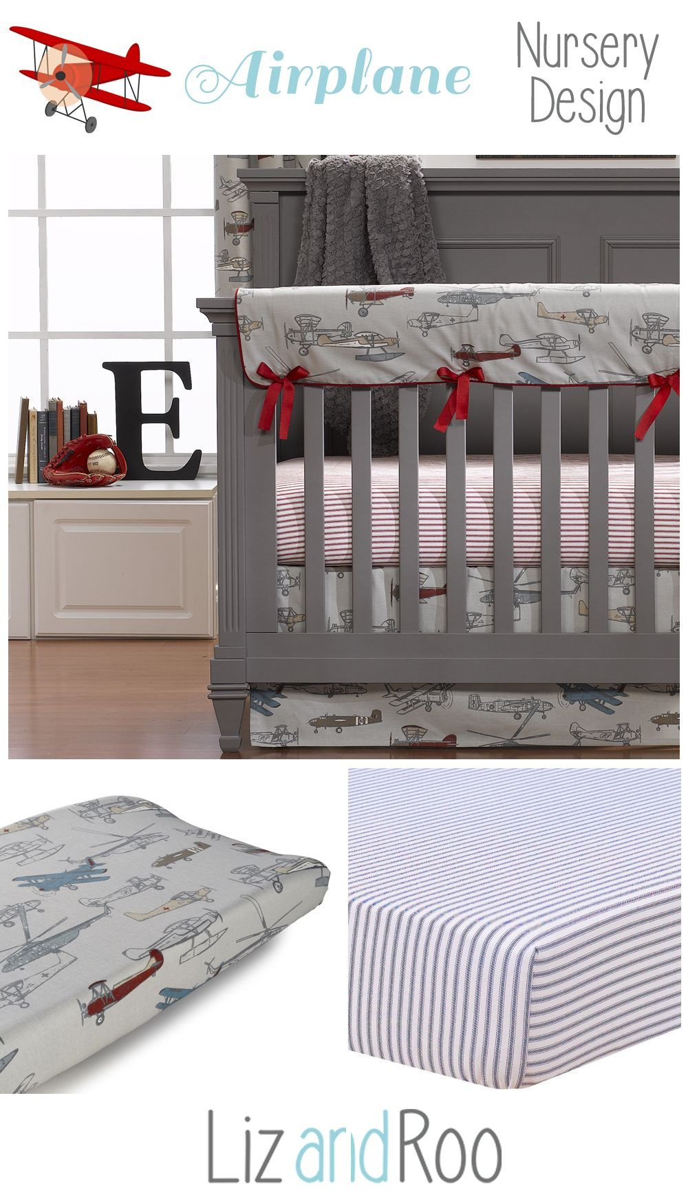 Baby Boy Bedroom theme Best Of Vintage Airplanes Crib Bedding Collection