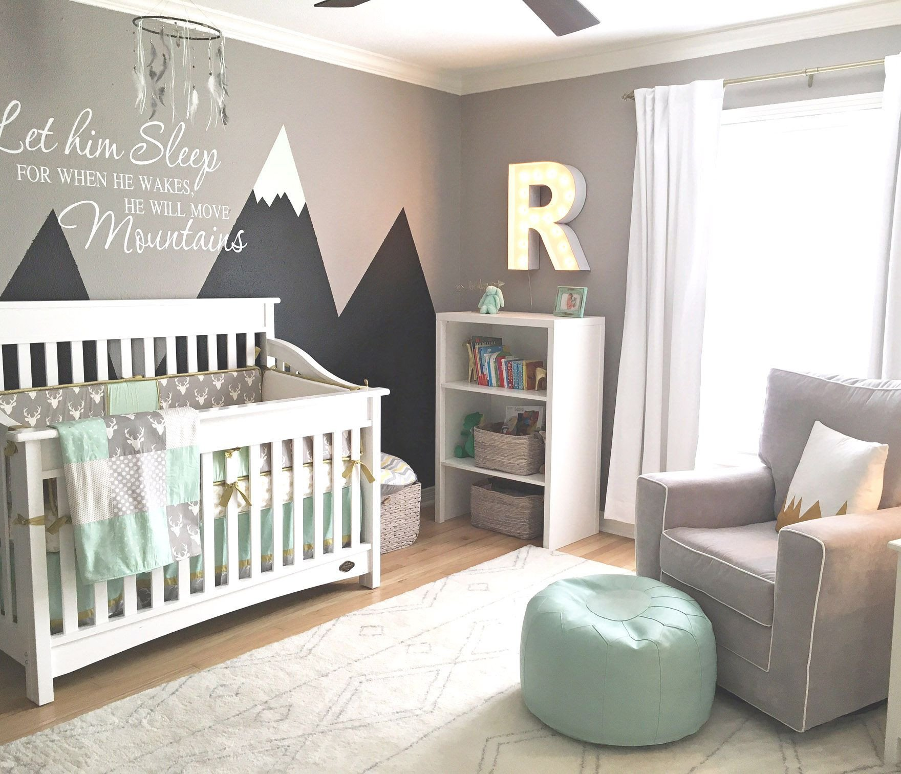 Baby Boy Bedroom theme Fresh Design Reveal Mountain Inspired Nursery