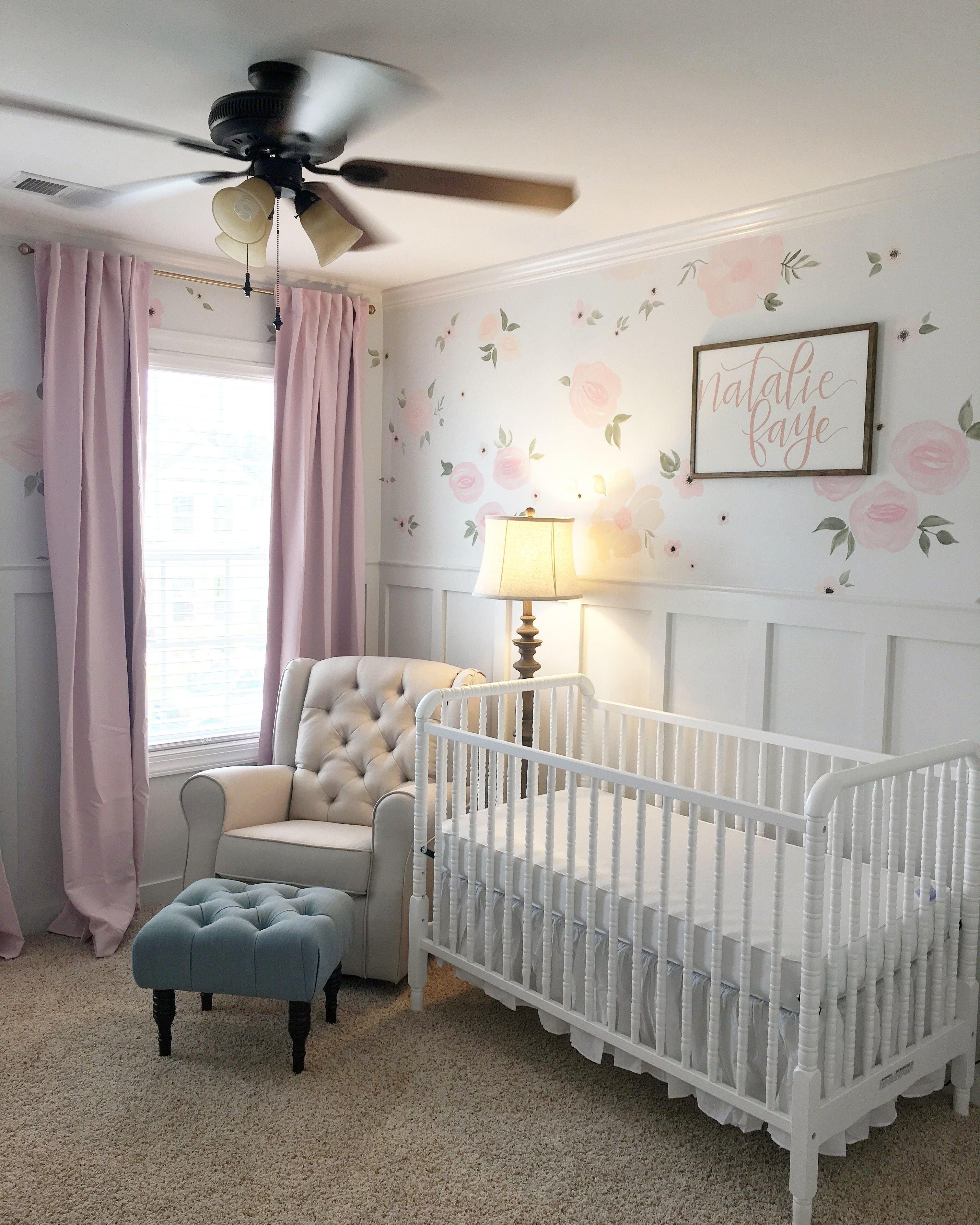 Baby Girl Bedroom Decor Beautiful Baby Girl Nursery Floral Walls Floral Nursery Pink