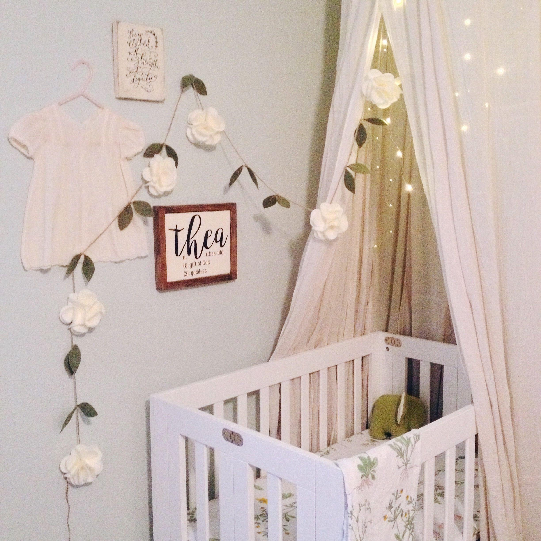 "Baby Girl Bedroom Decor Fresh Natural Neutral Simple ""themed"" Nursery Dreamy Boho"