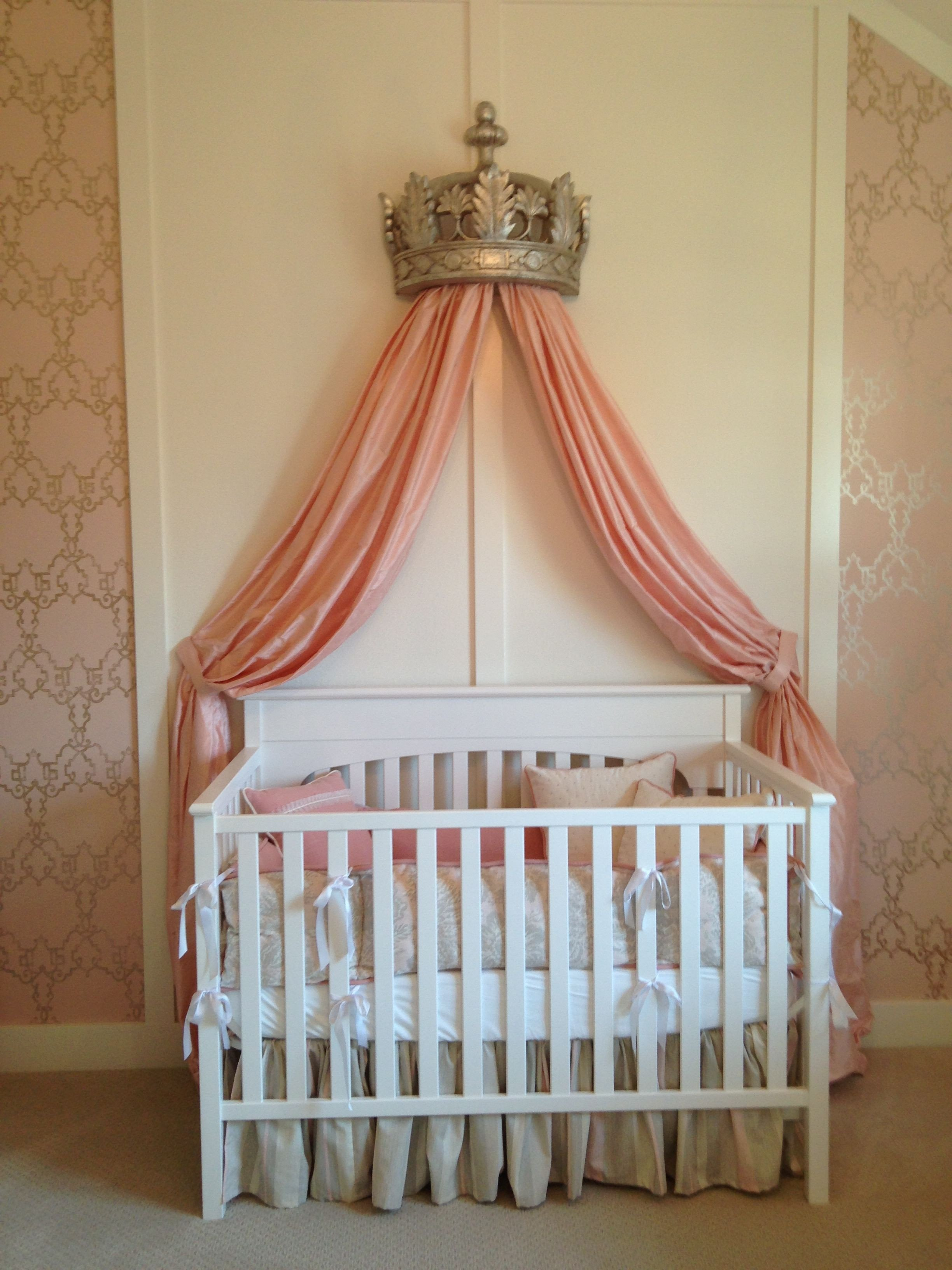 Baby Girl Bedroom Ideas Lovely Baby Girl Room Love This Crown Drape Over the Crib Fit for