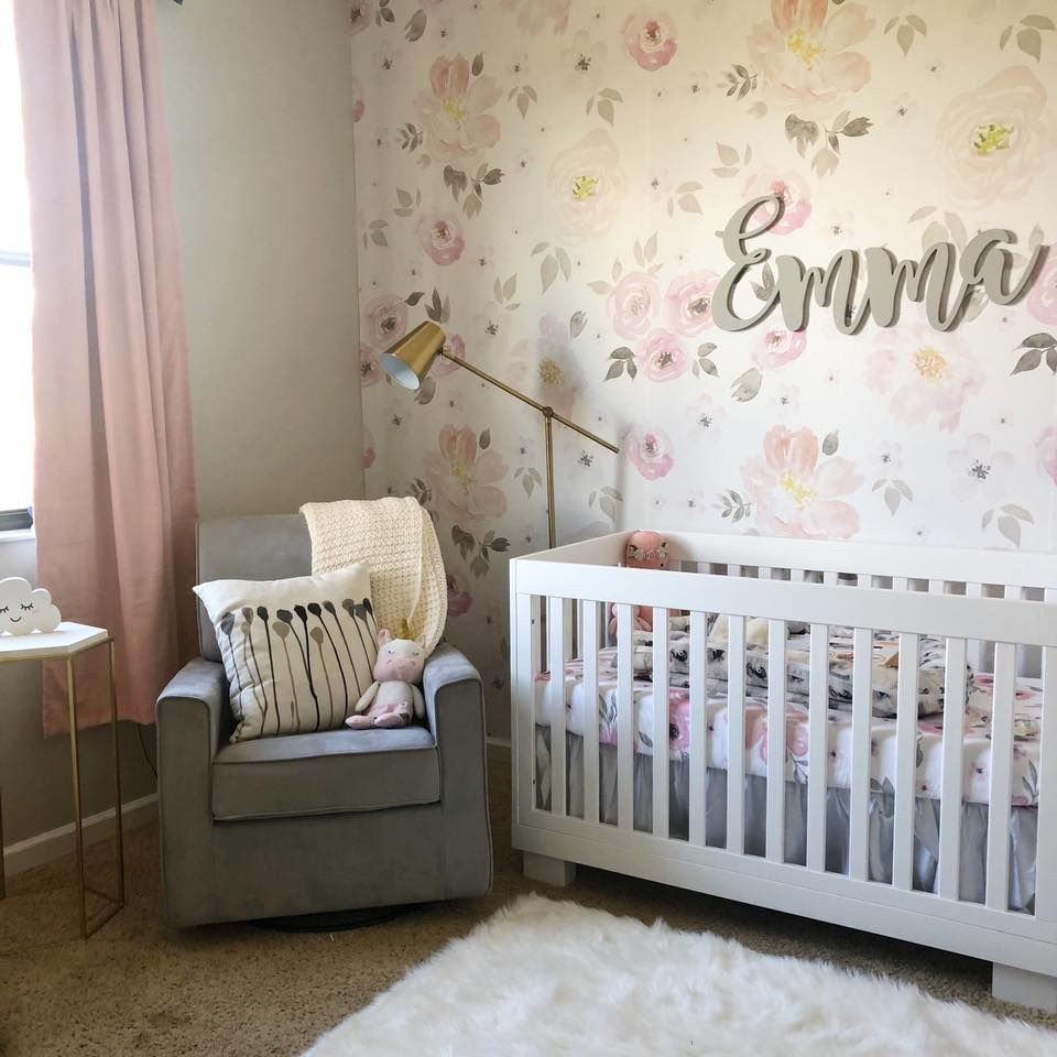 Baby Girl Bedroom Ideas Unique Vintage Floral Nursery Ideas Baby Girl Emma Gold Pink