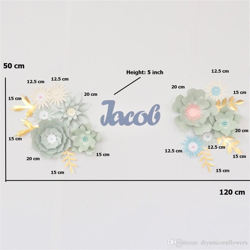 Baby Girls Bedroom Set Fresh 2019 Diy Paper Flowers Set Name Sign Kit Nursery Wall Decoration Baby Shower Backdrop Girls Nursery Wall Flower Decor From Diyunicornflowers $12 07