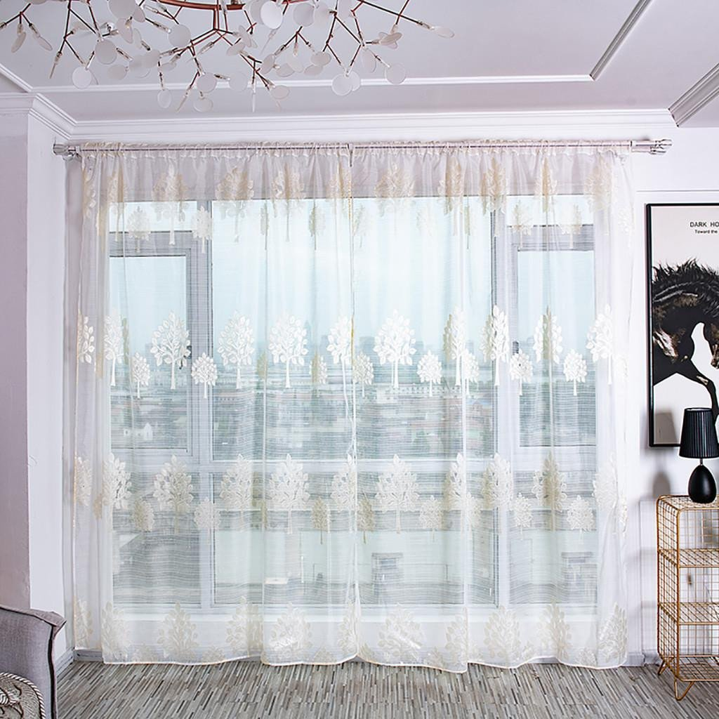 Balloon Curtains for Bedroom Best Of 2019 Trees Sheer Curtain Tulle Window Treatment Voile Drape Valance Embroidered Curtains for Living Room Sheer Curtains for Window From Pont $34 02