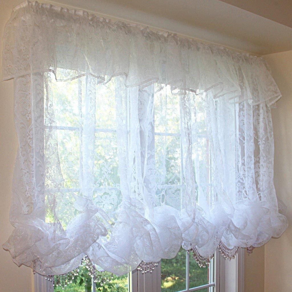 Balloon Curtains for Bedroom Elegant White Balloon Shade Curtains