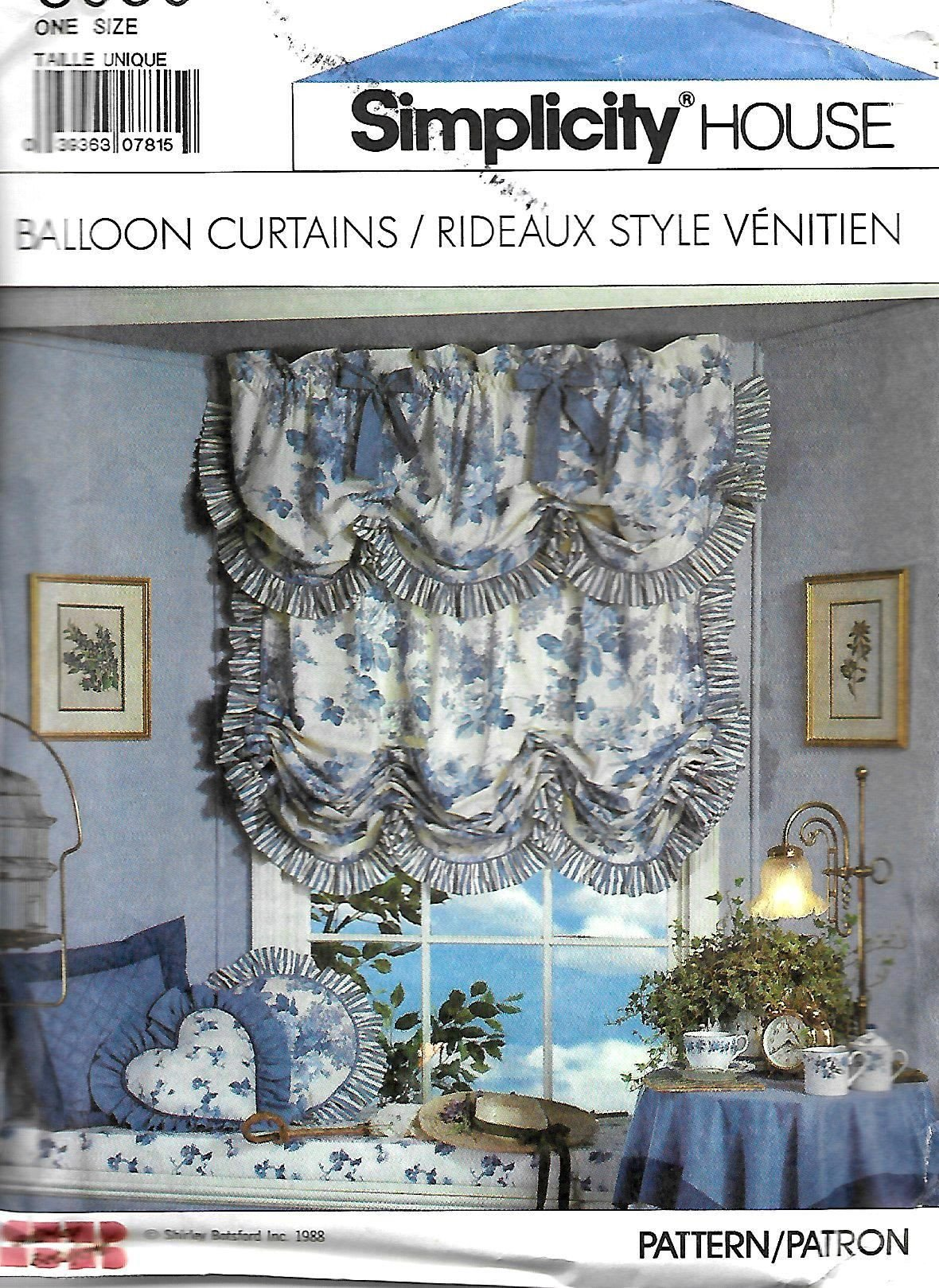 Balloon Curtains for Bedroom New Simplicity 8939 Balloon Curtains Shades and Valances Sewing