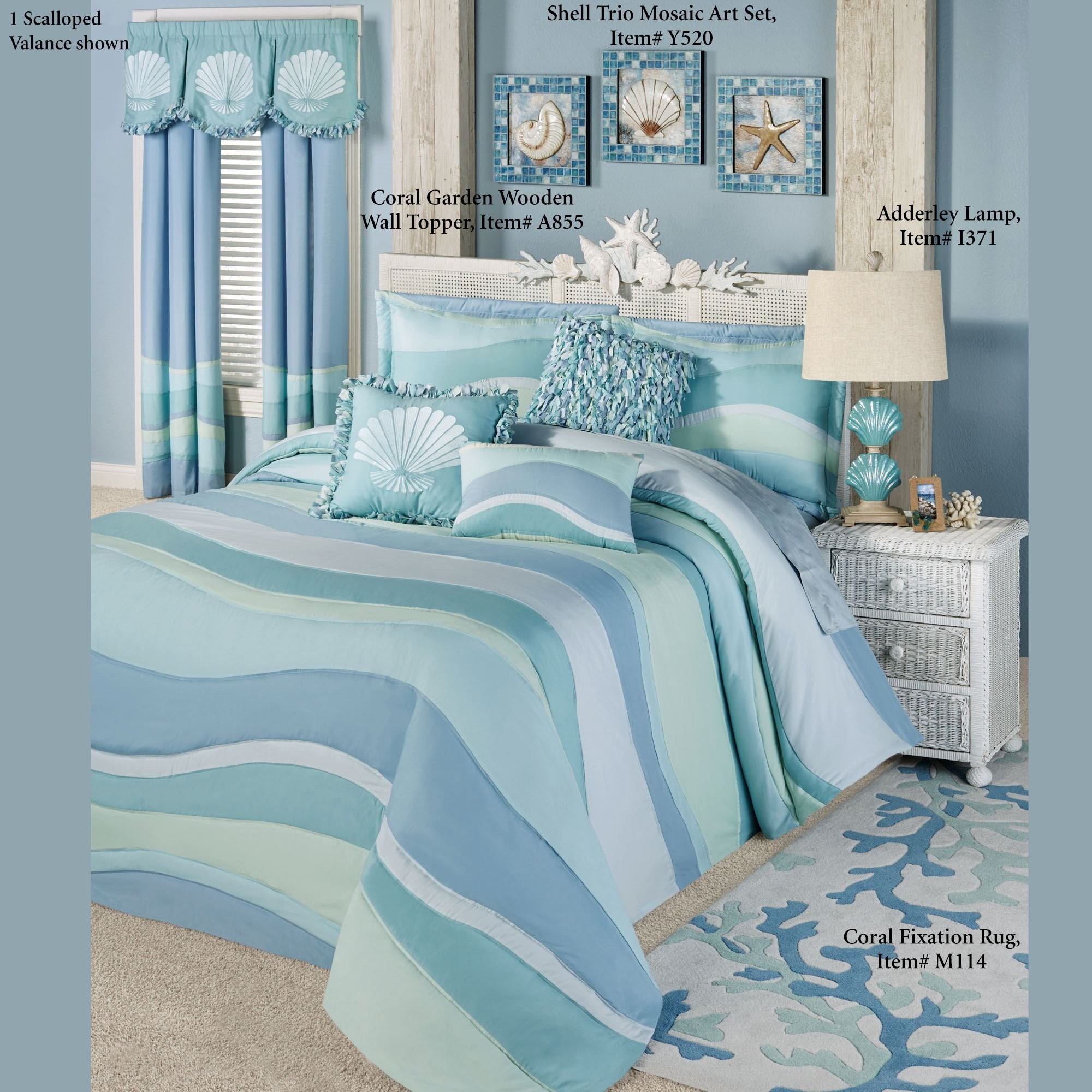 Beach themed Bedroom Accessories Elegant Ocean Tides Ii Lightweight Oversized Coastal Bedspread