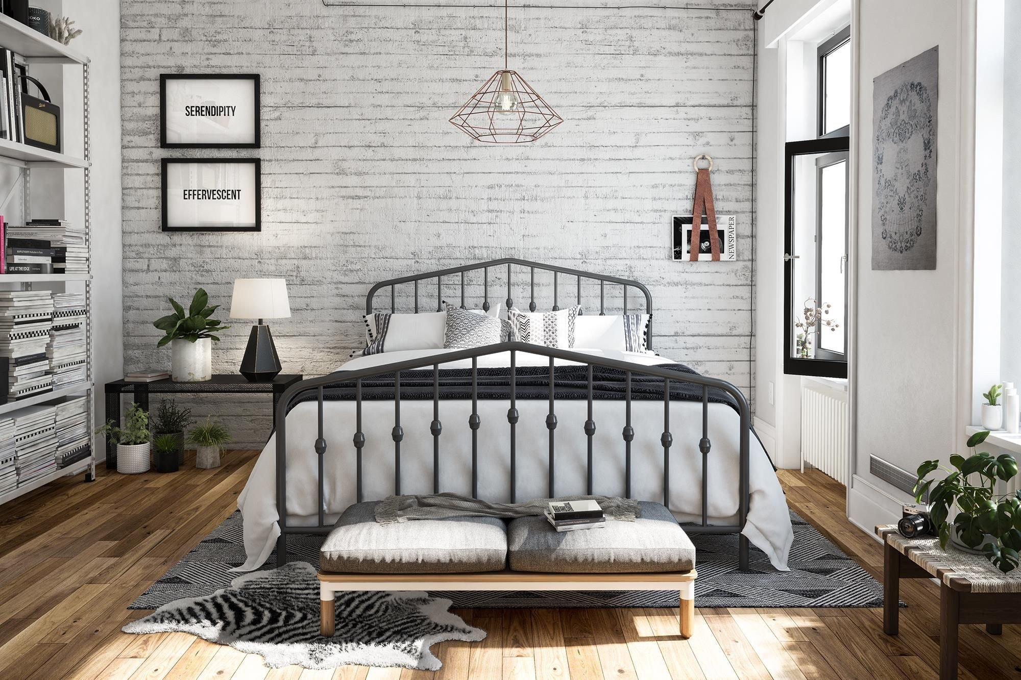 Beach themed Bedroom Furniture Fresh Novogratz Bushwick Metal Bed Multiple Colors and Sizes