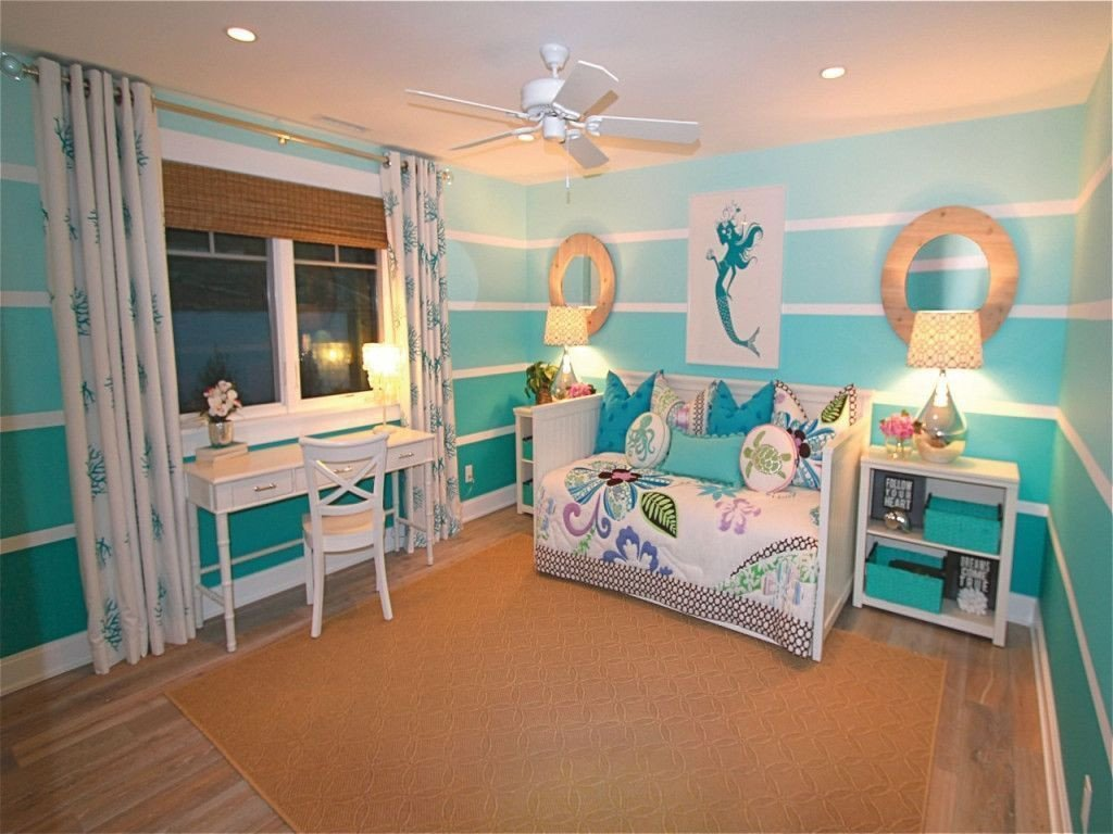 Beach themed Girls Bedroom Lovely Bedroom Beach themed Bedroom for Teenage Girl with Mermaid