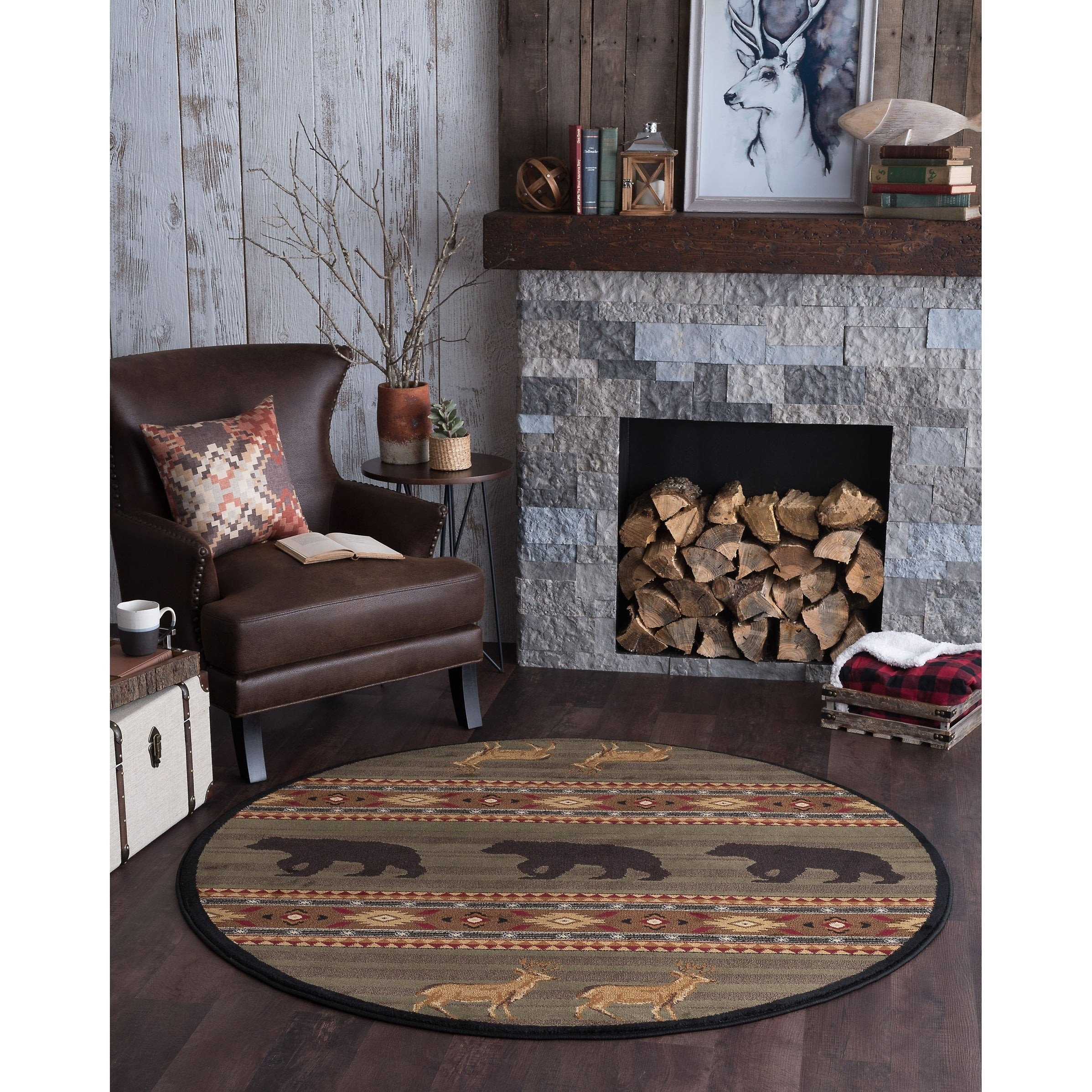 Bedroom area Rug Placement Best Of Alise Rugs Natural Lodge Novelty Lodge Round area Rug 7 10 X 7 10