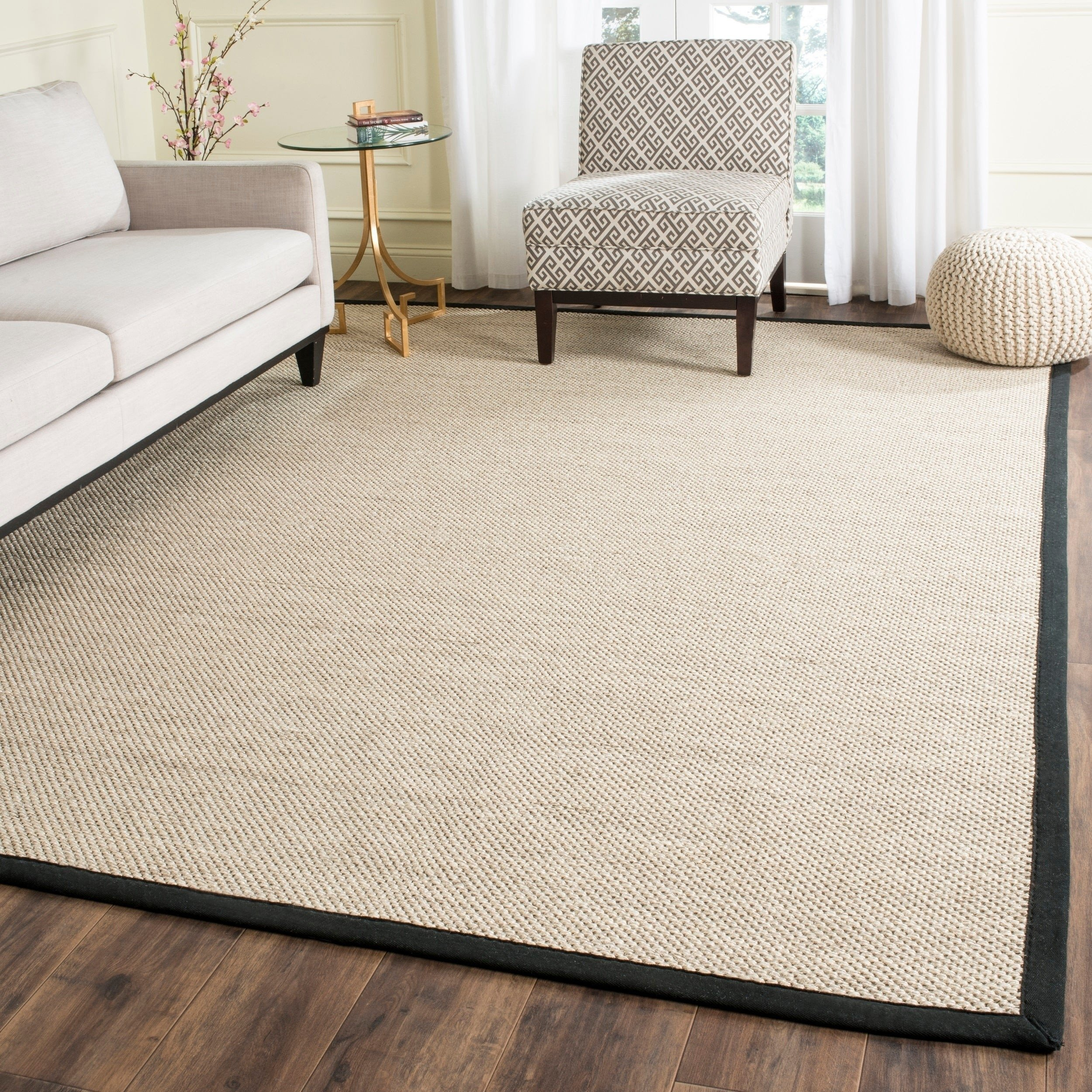 Bedroom area Rug Placement Lovely Safavieh Natural Fiber Pacific Marble Black Sisal Rug 9 X 12