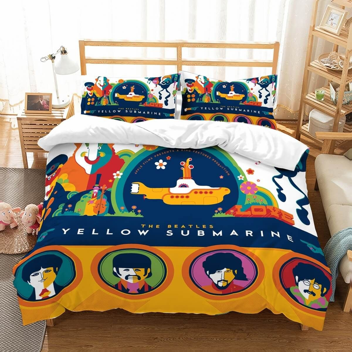 Bedroom Bedding and Curtain Set Best Of 3d Customize the Beatles Bedding Set Duvet Cover Set Bedroom