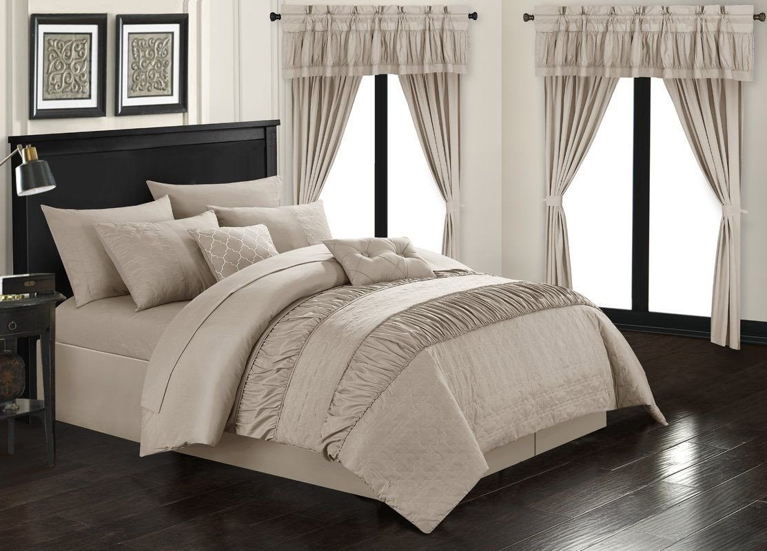 Bedroom Bedding and Curtain Set Elegant Kriebel 20 Piece forter Set