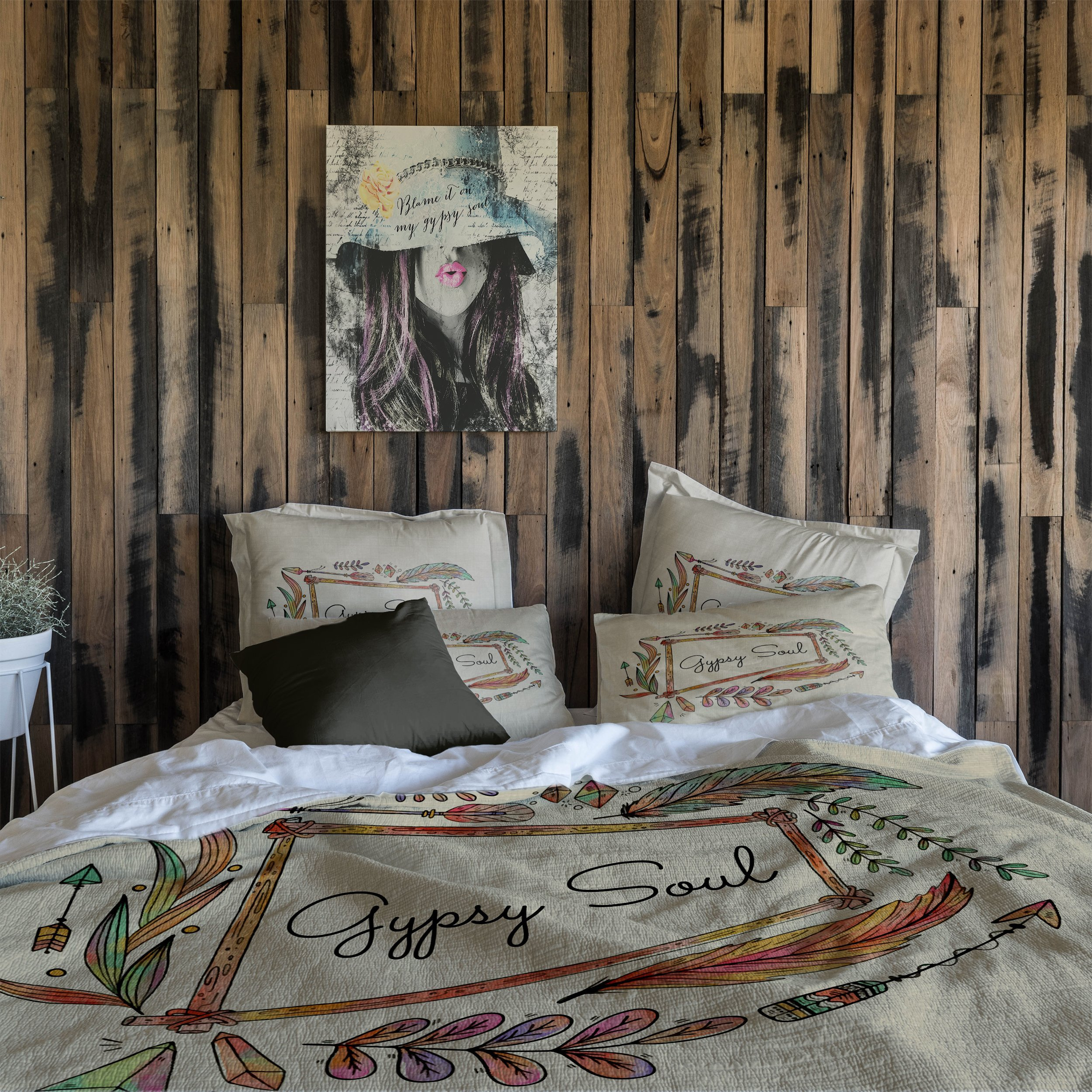Bedroom Bedding and Curtain Set Lovely Gypsy soul Bedding – Folk N Funky