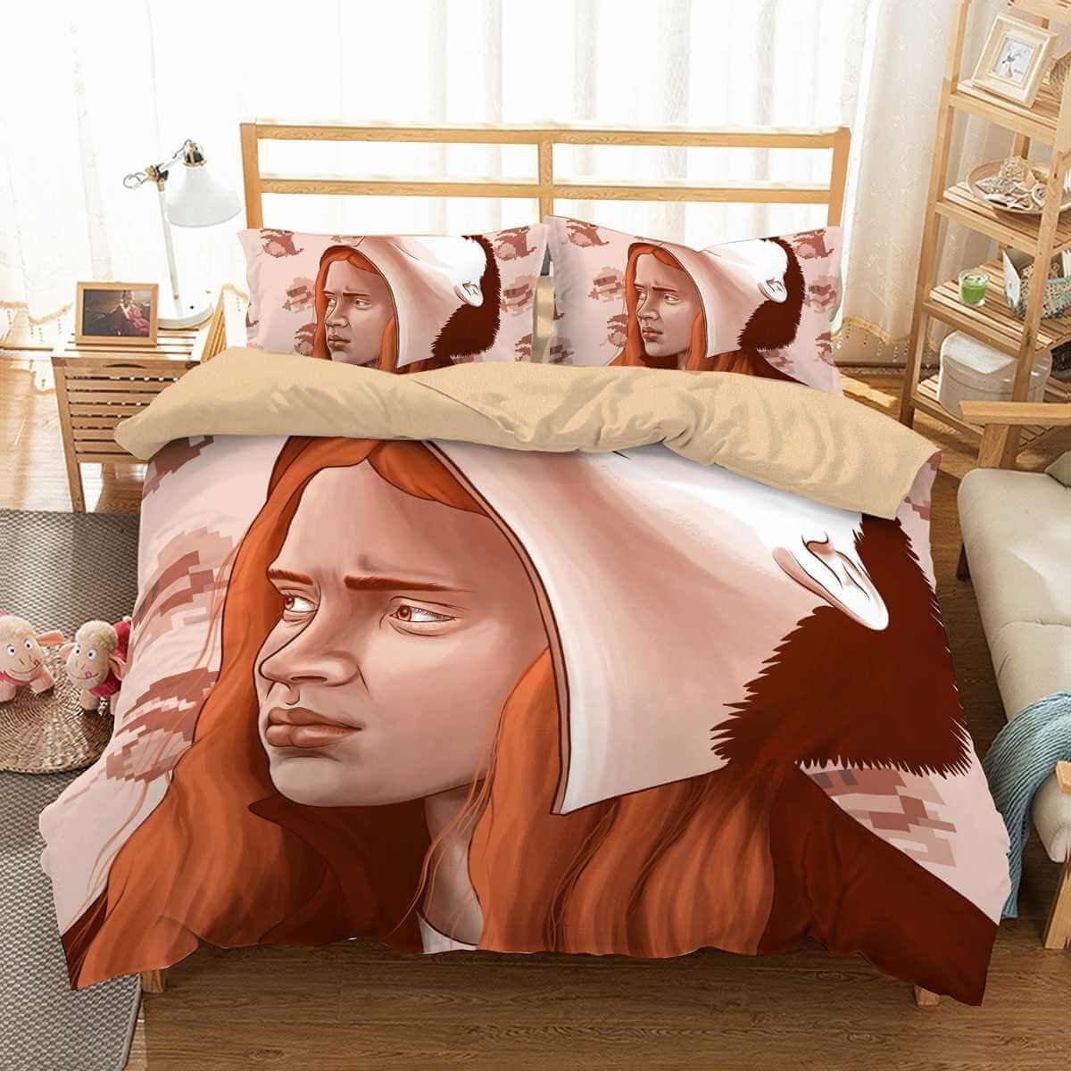 Bedroom Bedding and Curtain Set Unique 3d Customize Stranger Things Bedding Set Duvet Cover Set