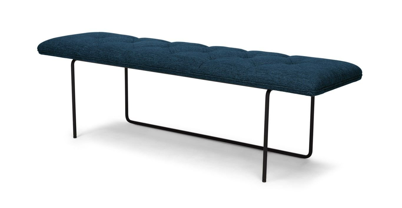 Bedroom Bench with Back Awesome Black Steel Legs Hold Up A Tufted Cushioned Seat Drawing A