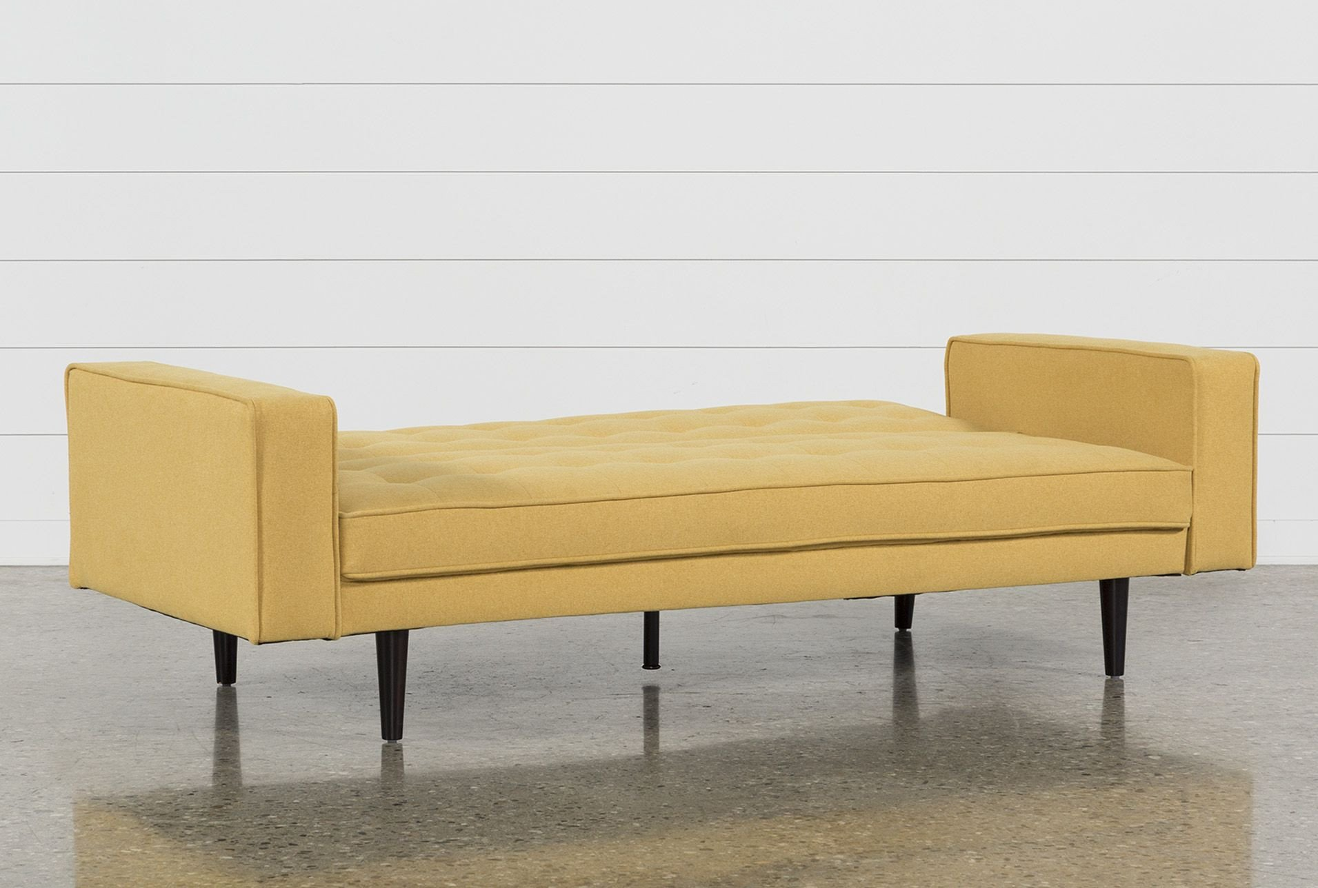 Bedroom Bench with Back Beautiful Petula Mustard Convertible sofa Bed Yellow $395