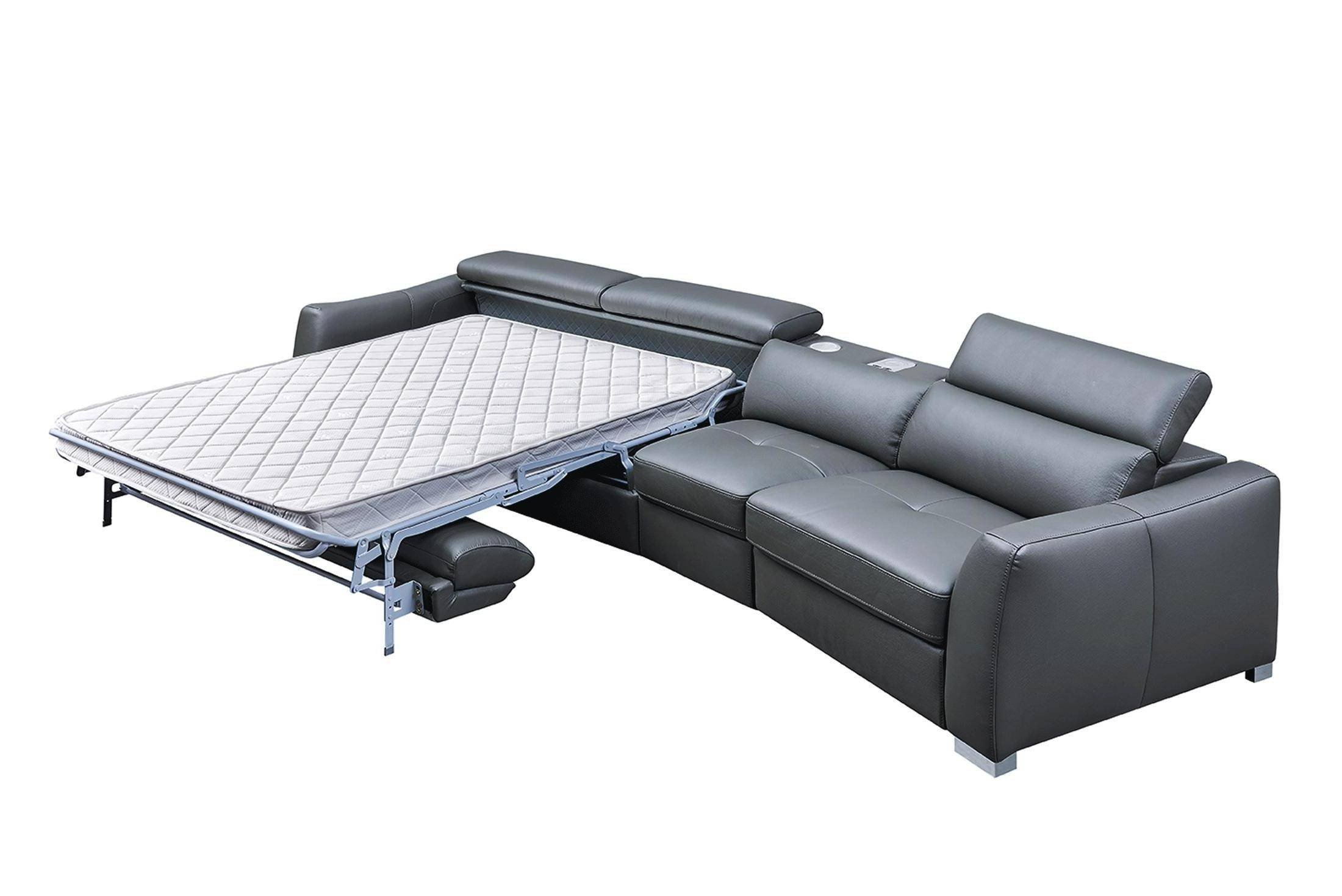 Bedroom Bench with Back Best Of Esf 312 Dark Grey Sectional W Bed and Electric Recliner