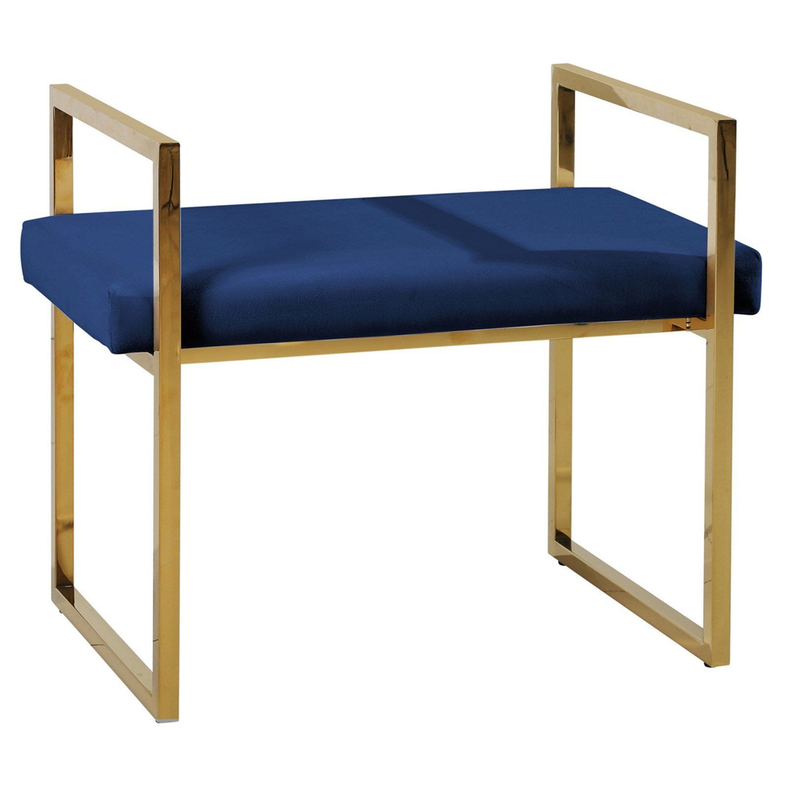 Bedroom Benches for Sale Fresh Sagebrook Home Velveteen Bench with Handles Blue Gold In