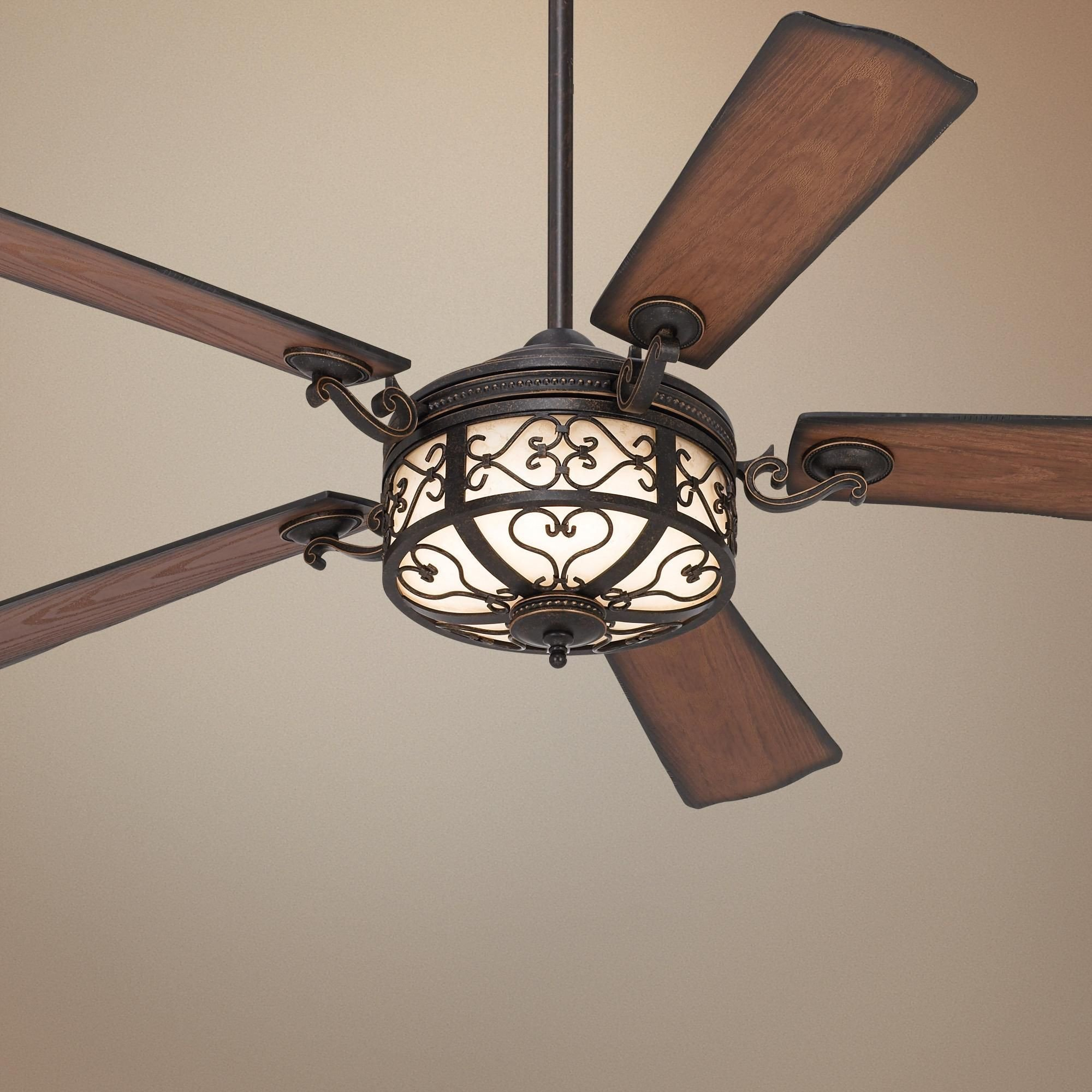 "Bedroom Ceiling Fans with Light Awesome 54"" Hermitage™ Golden forged Outdoor Ceiling Fan"