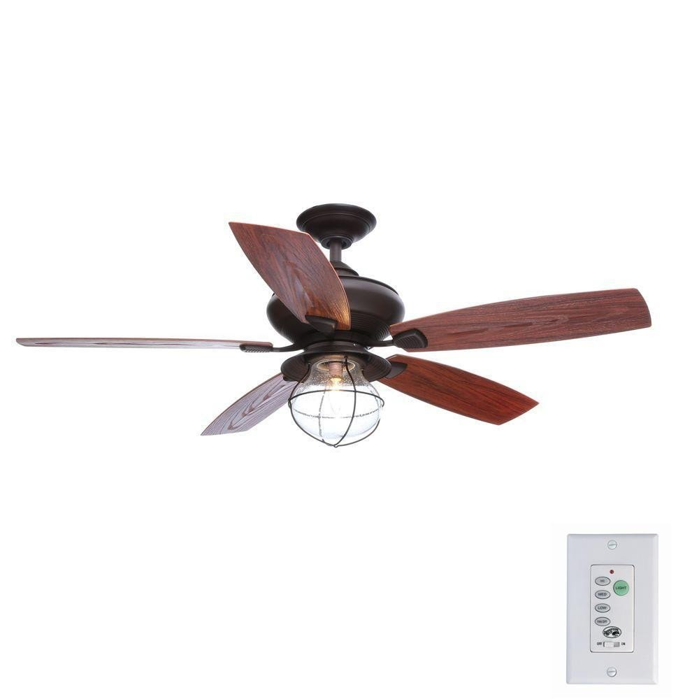 Bedroom Ceiling Fans with Light Luxury Hampton Bay Sailwind Ii 52 In Indoor Outdoor Oil Rubbed Bronze Ceiling Fan with Wall Control and Light Kit