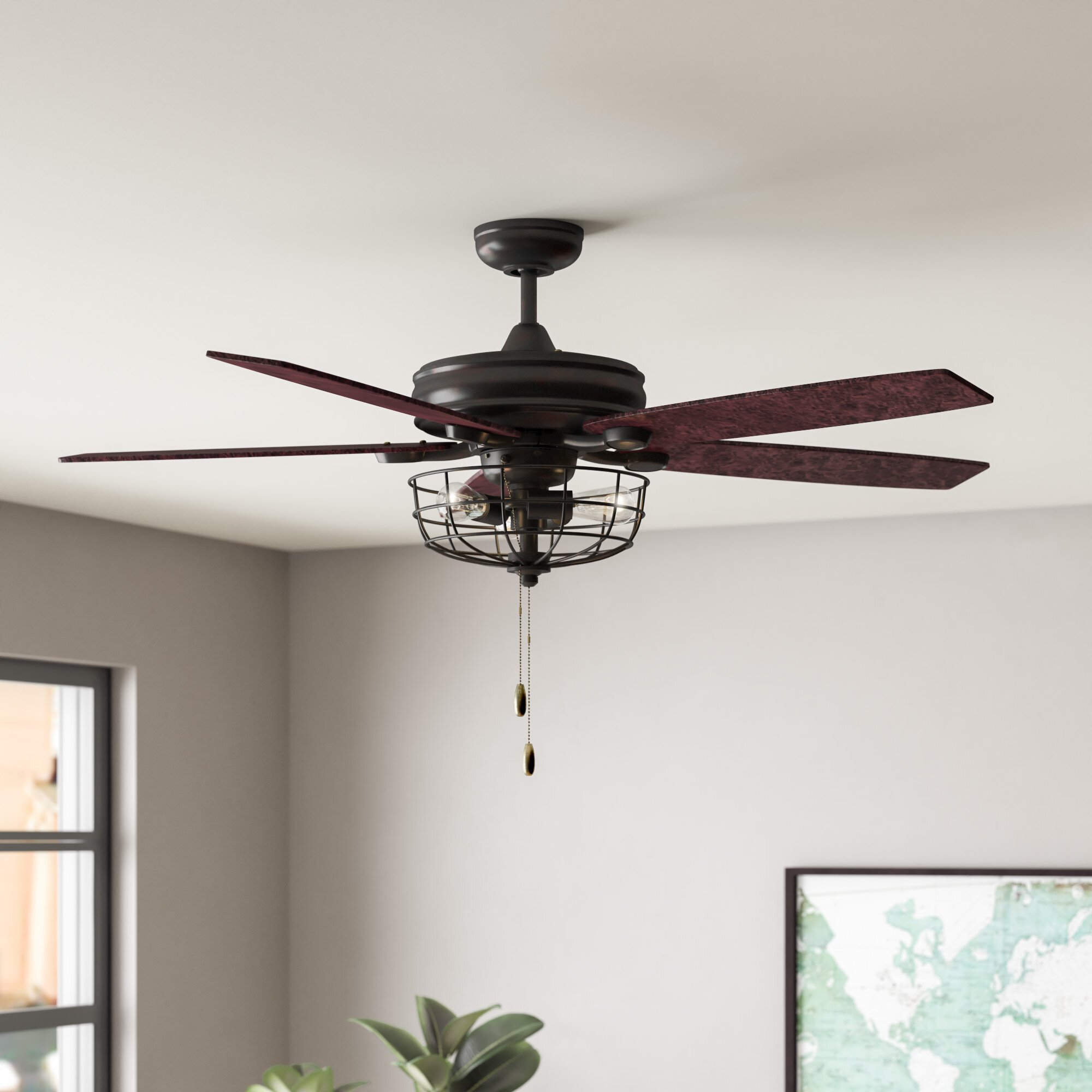 "Bedroom Ceiling Fans with Light Unique 52"" Glenpool 5 Blade Ceiling Fan Light Kit Included"