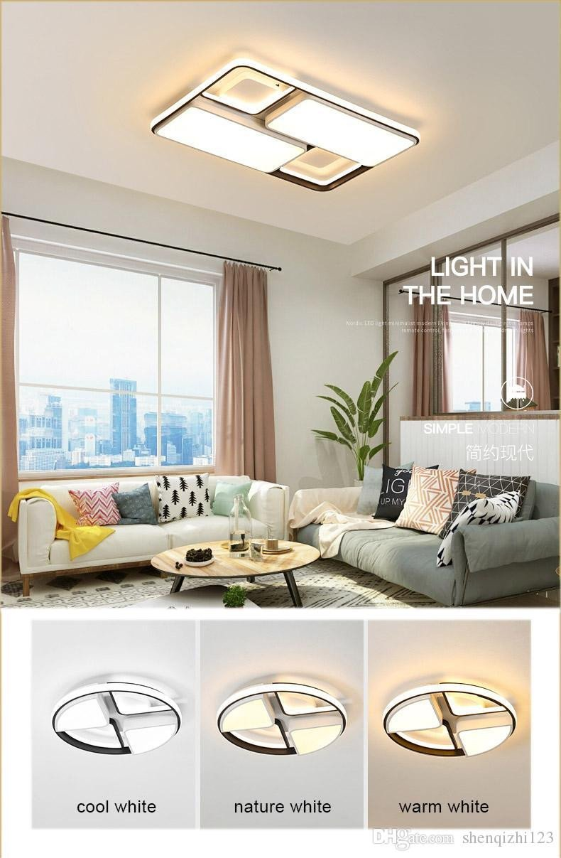 Bedroom Ceiling Light Ideas Fresh New Modern Led Ceiling Light for Foyer Living Room Bedroom Kitchen Black and White Creative Fashion Remote Control Ceiling Lamp Bedroom Chandeliers