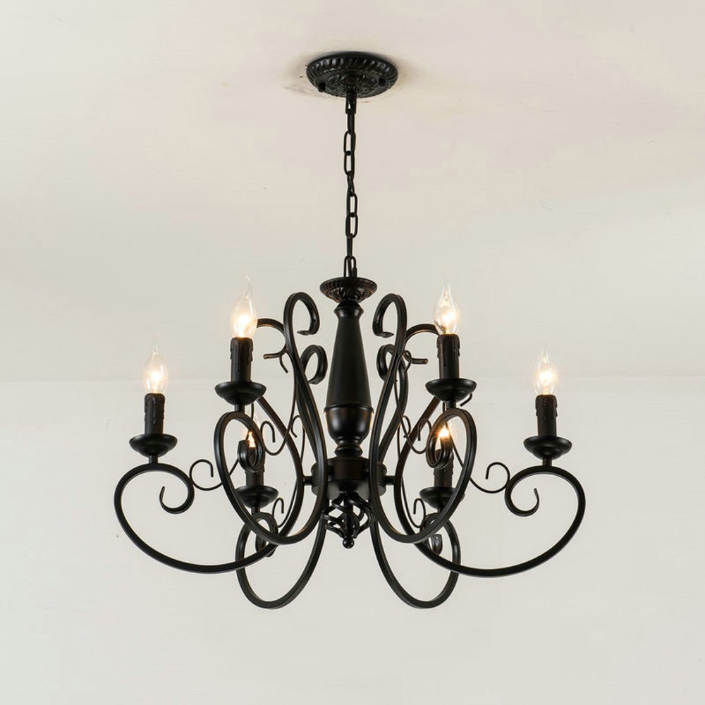 Bedroom Ceiling Light Ideas Luxury European Style Simple Modern Iron Chandelier Dining Room