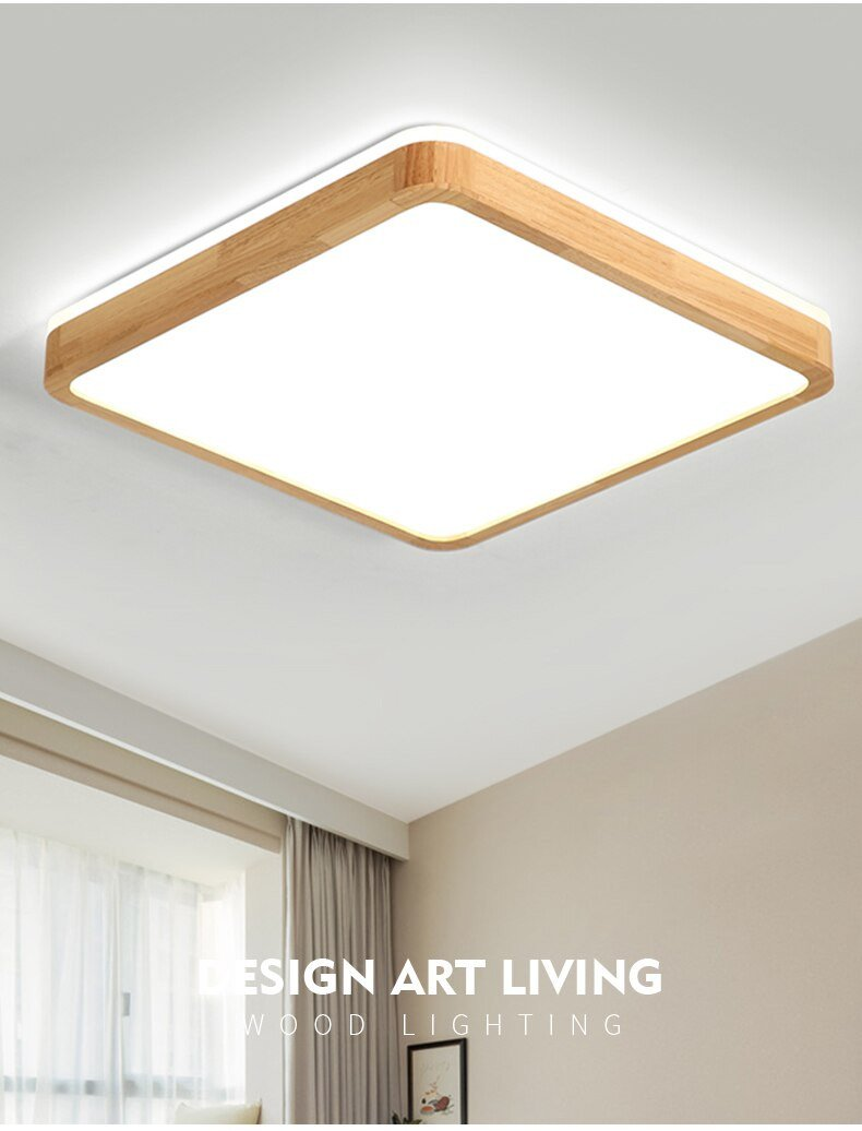 Bedroom Ceiling Light Ideas New Modern Ceiling Lamp Ultra Thin Led solid Wood Lamps Bedroom