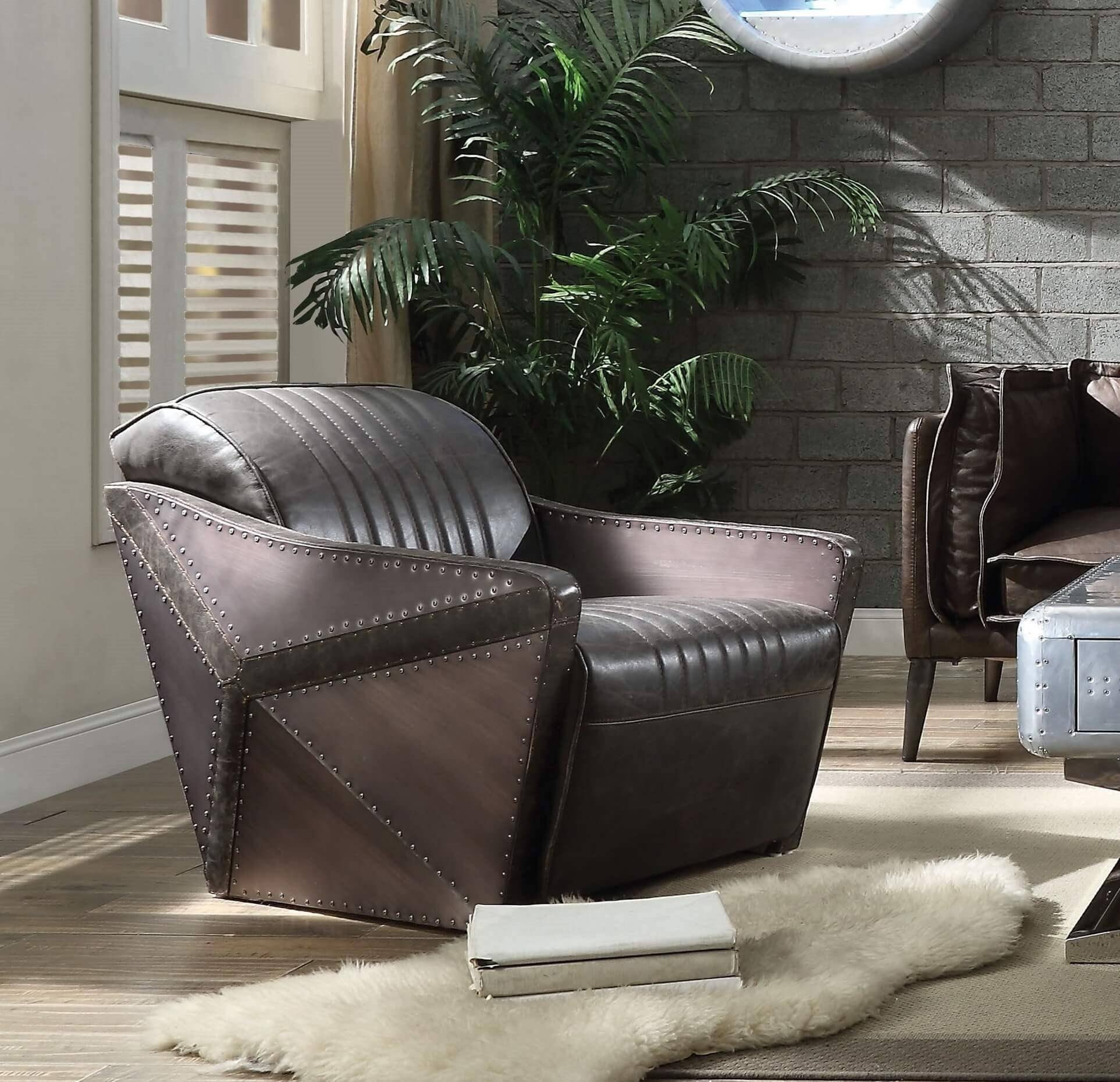 Bedroom Chairs for Sale Elegant Chocolate top Grain Leather sofa Set 4p Porchester