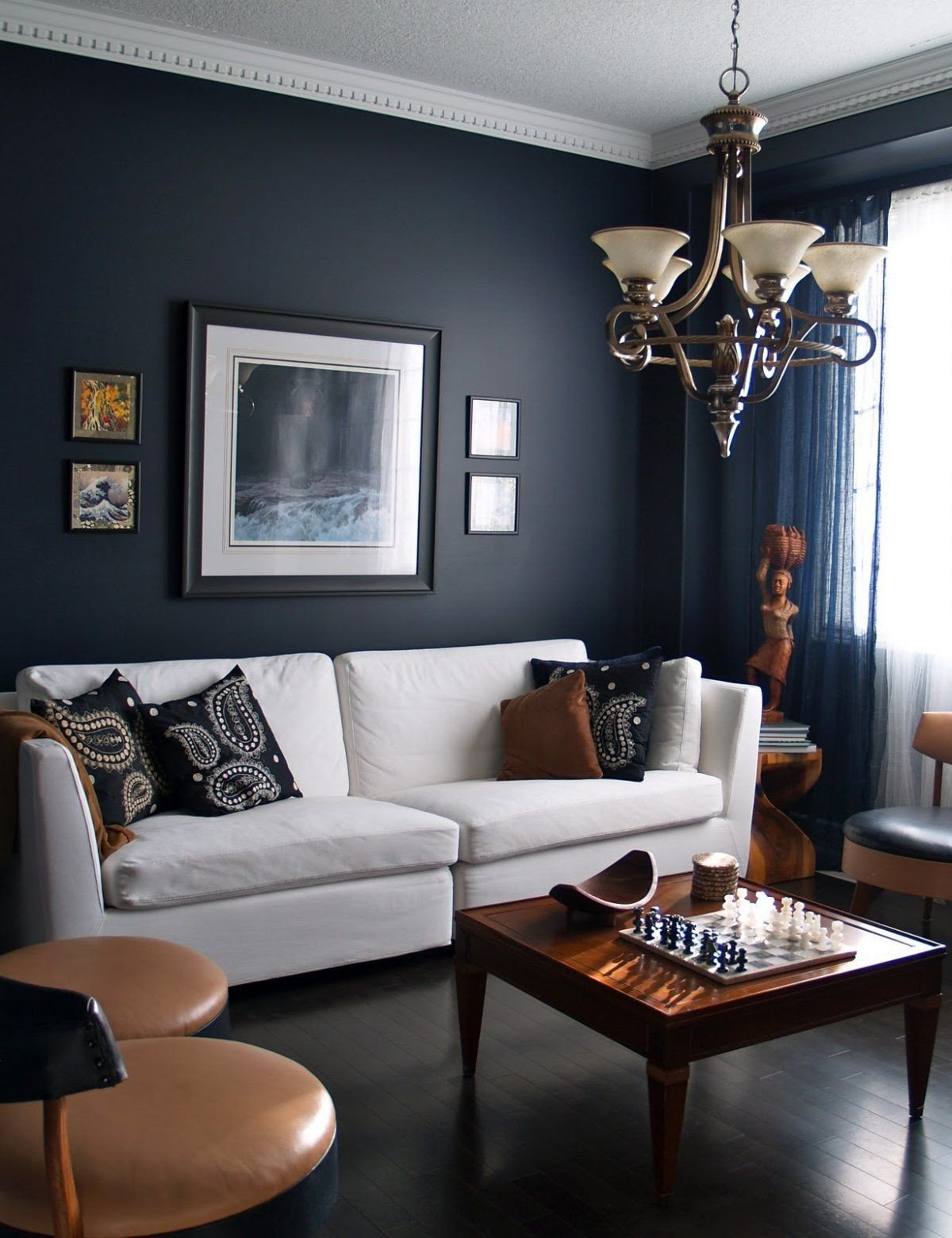 Bedroom Colors with Brown Furniture Fresh 15 Beautiful Dark Blue Wall Design Ideas