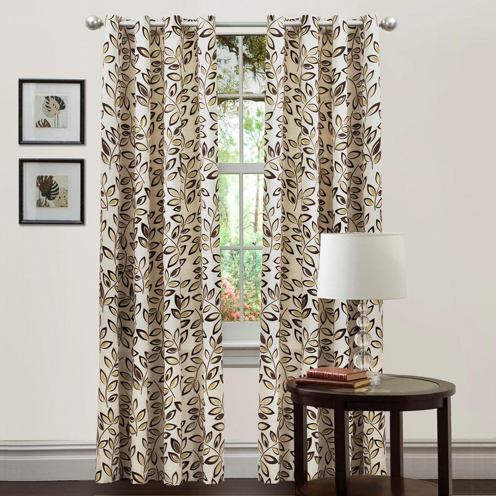 Bedroom Curtain Ideas Small Windows Awesome Lush Decor Ventura Window Panels Taupe 84 In X 50 In